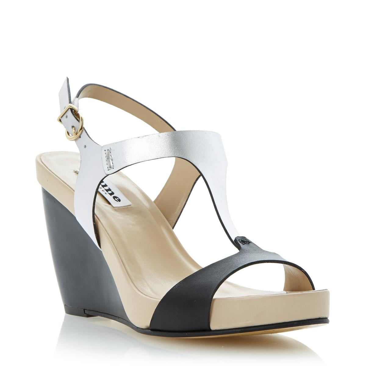 Black sandals dune - New Dune Ladies Giselle Womens Black Peep Toe