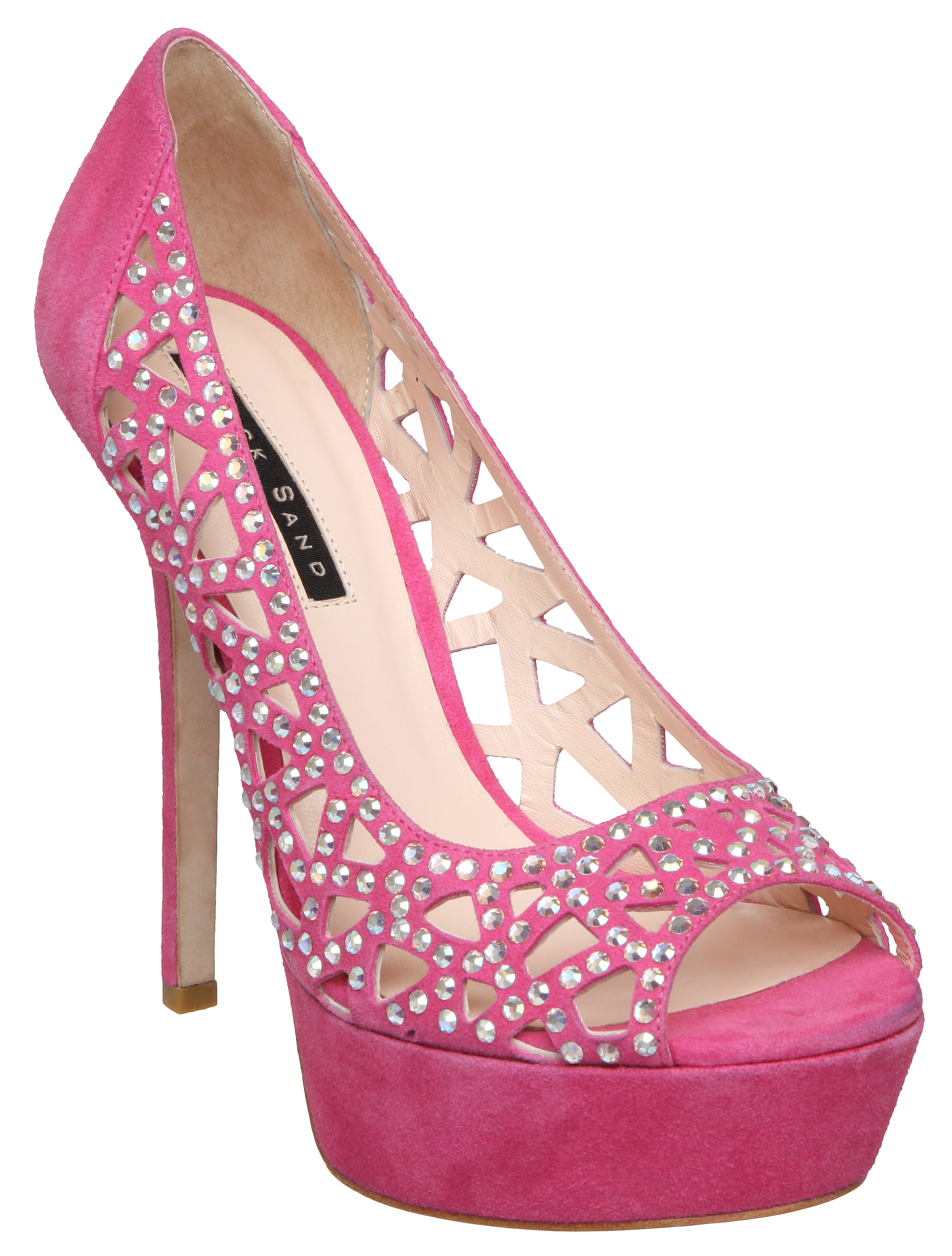 Fuschia Pink High Heel Shoes - Is Heel
