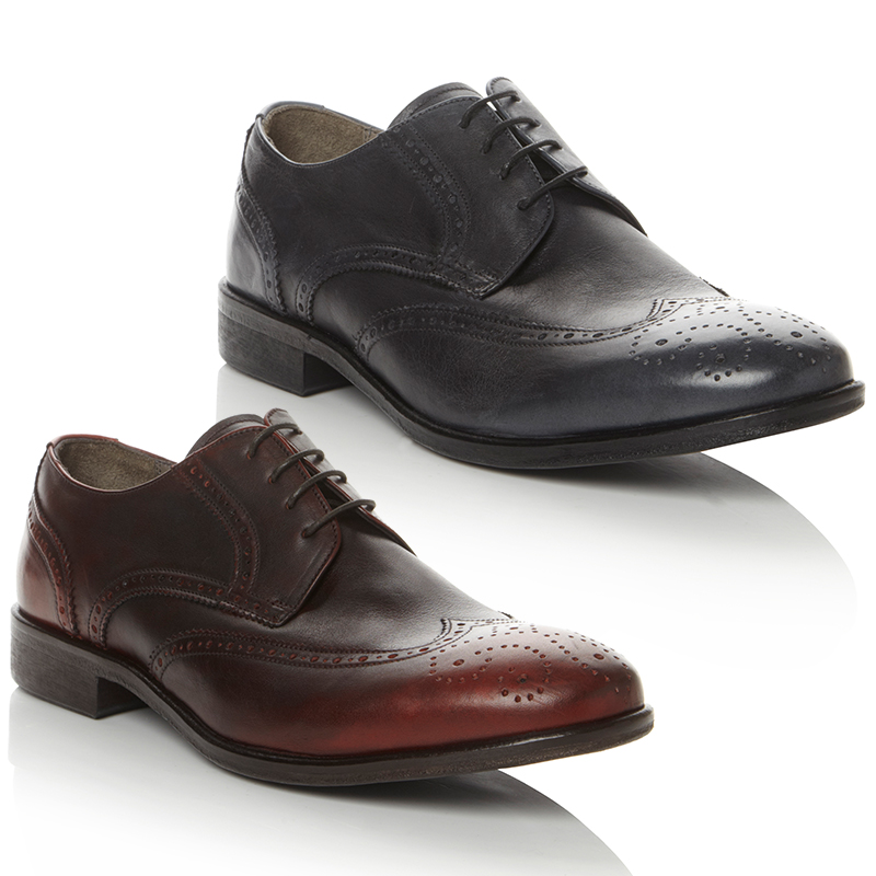 NEW-PIED-A-TERRE-MENS-APOCALYPSE-LEATHER-LACE-UP-FORMAL-FLAT-SHOES-SIZE-6-12-UK