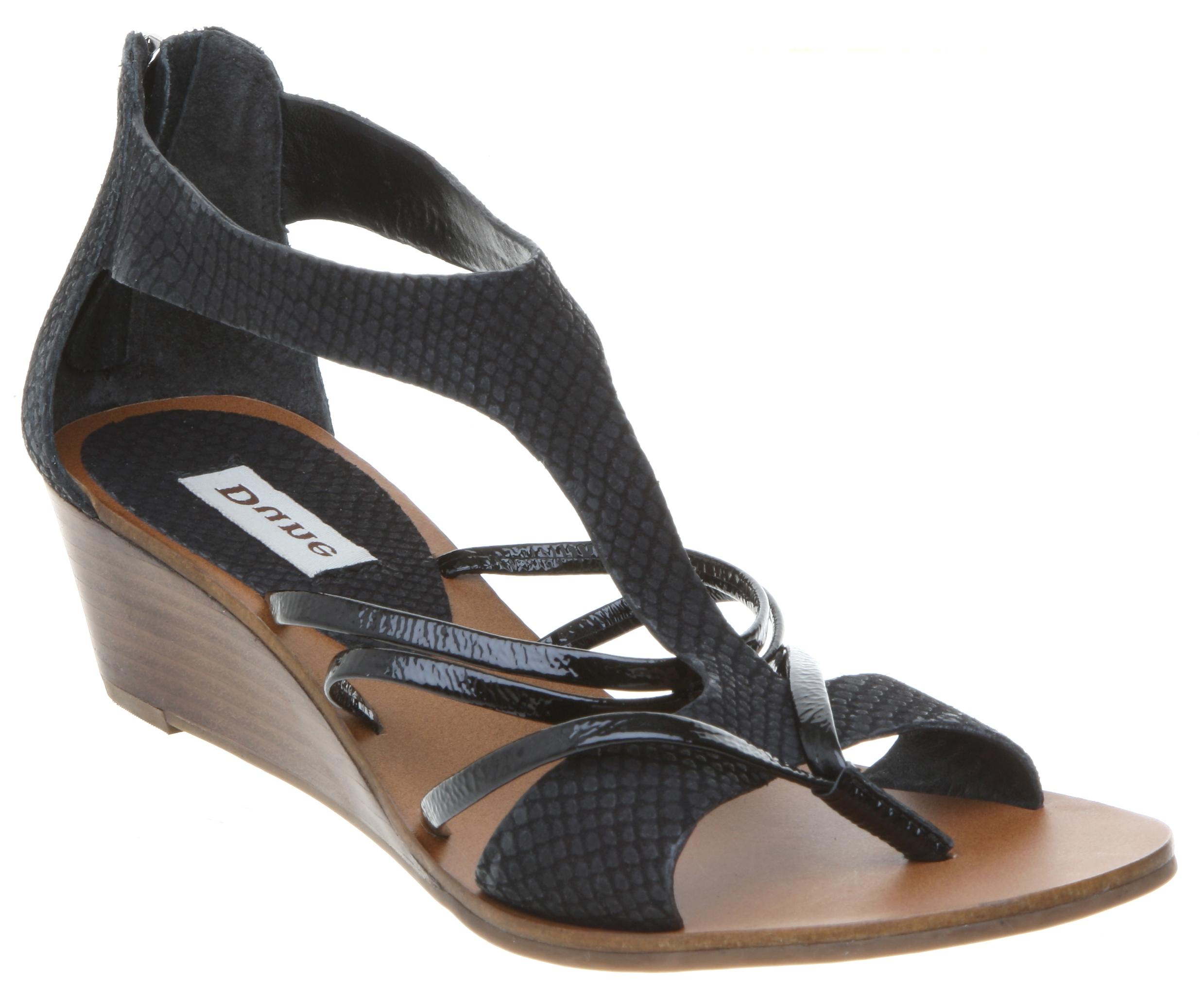 new dune womens t bar low wedge heel sandal