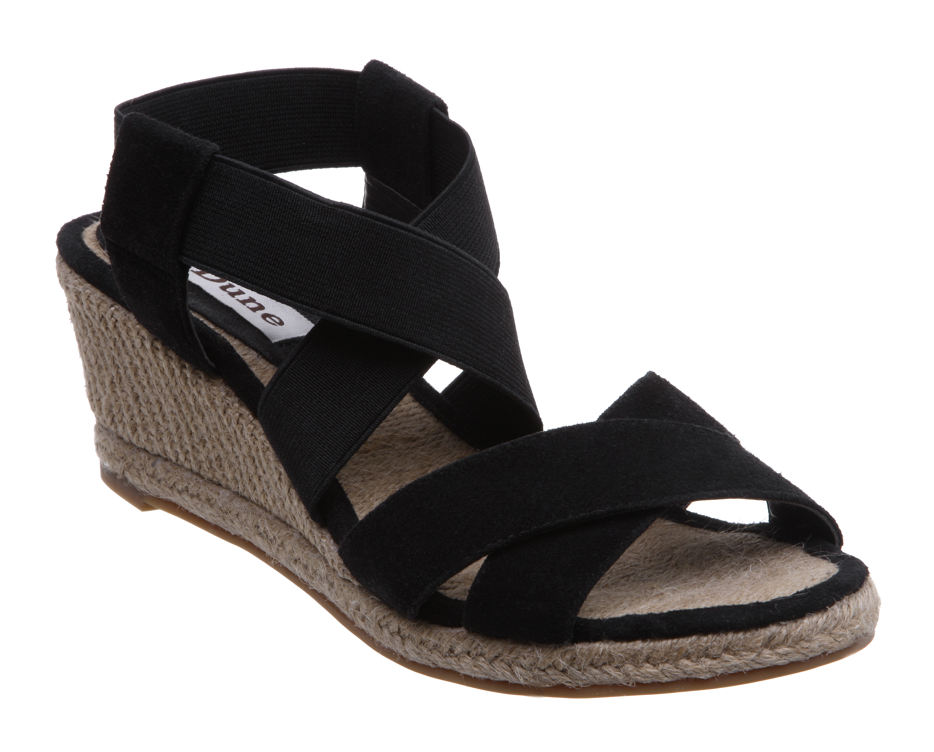 NEW-DUNE-LADIES-NEVANA-WOMENS-ELASTIC-ESPADRILLE-STRAP-WEDGE-HEEL-SHOES-SIZE-3-8