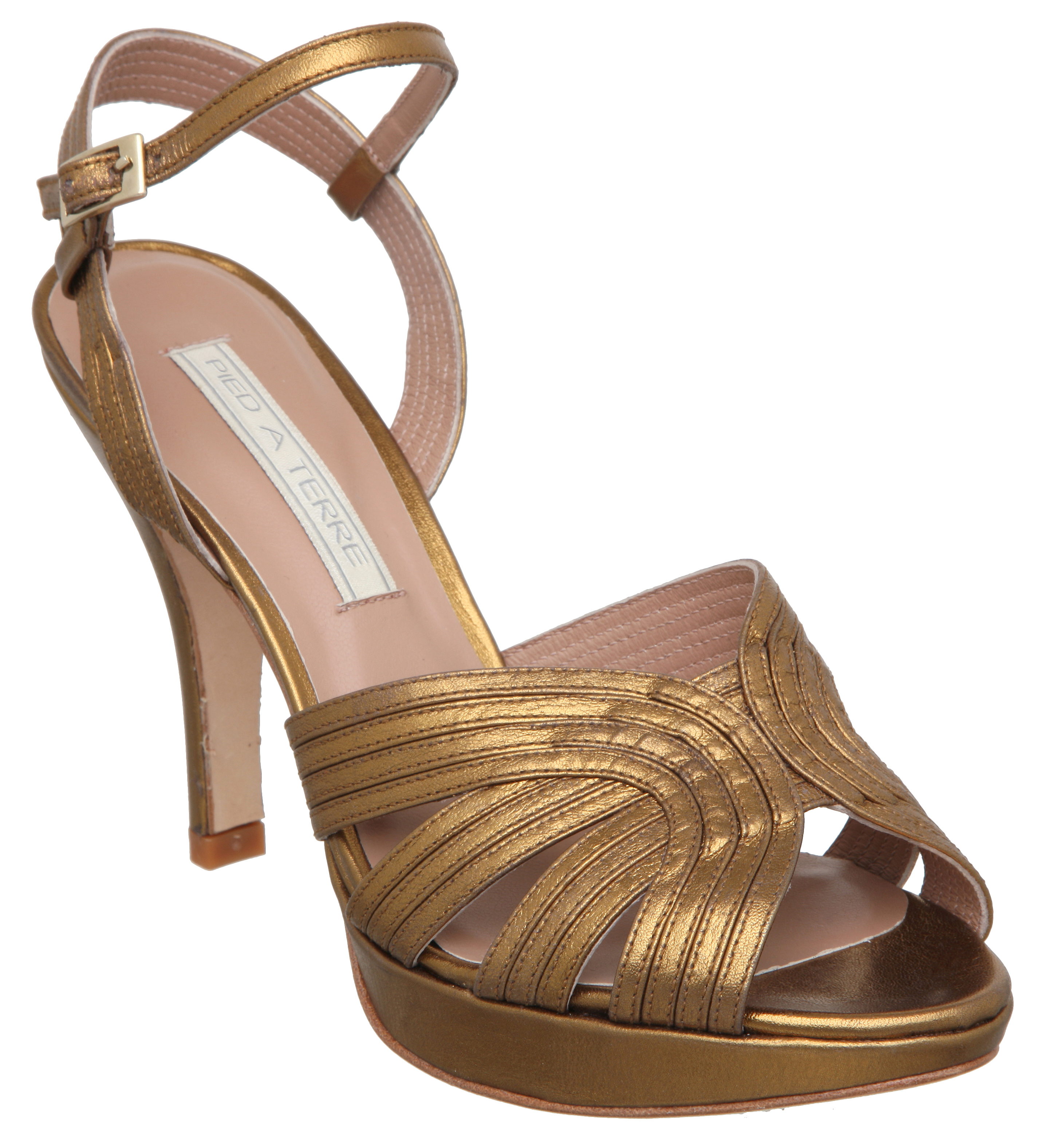 New Pied A Terre Ladies Javitri Gold Womens High Heel