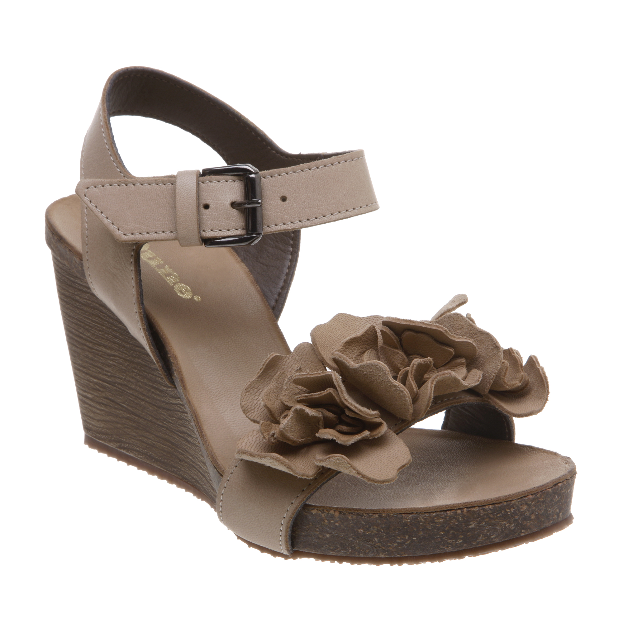dune nigella womens taupe brown leather floral