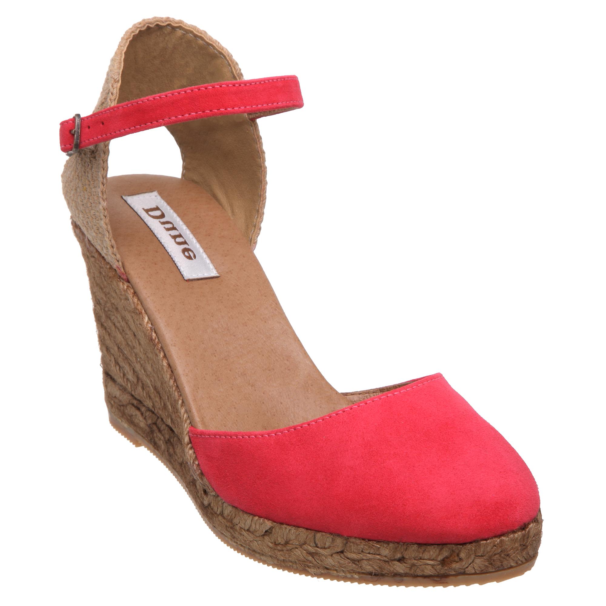 new dune newtown womens suede espadrille wedge heel