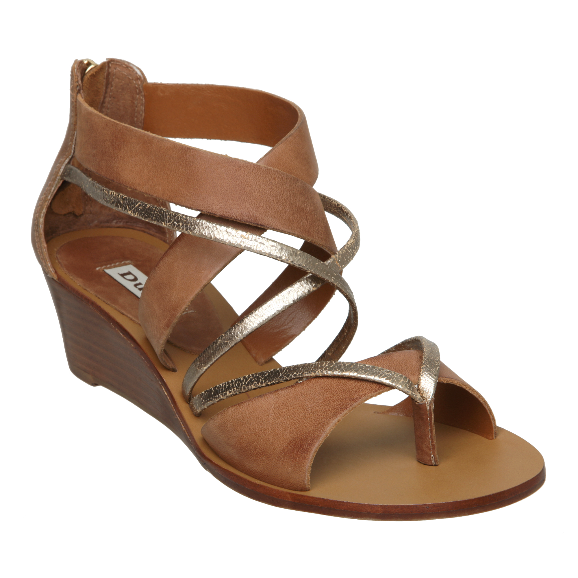 New Dune Ladies Gogo D Womens Gladiator Low Wedge Heel