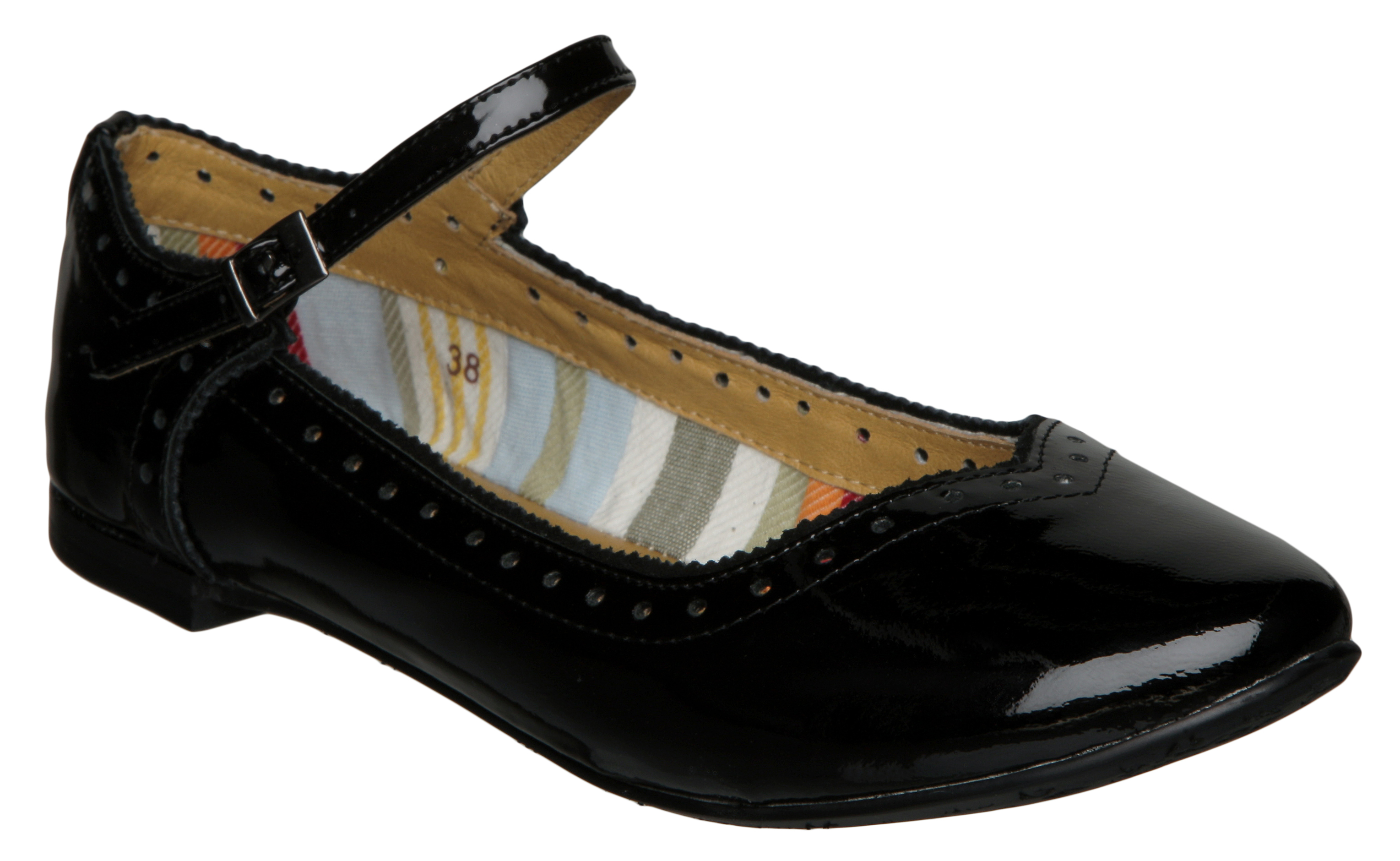 Black Patent Flat Ladies Shoes