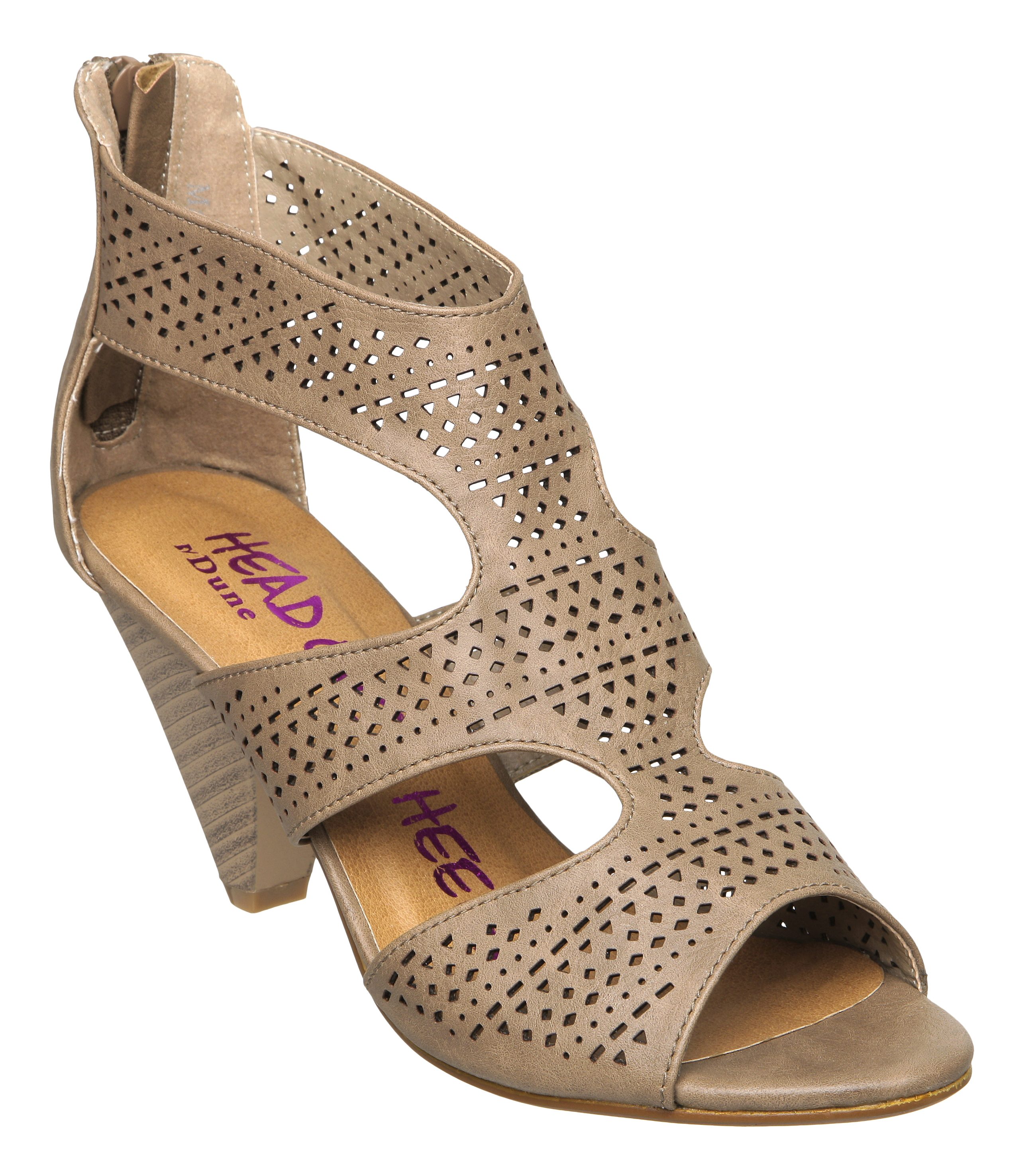NEW-HEAD-OVER-HEELS-WOMENS-FERNIE-TAUPE-BROWN-LADIES-CUBAN-HEEL-SHOES-SIZE-3-8