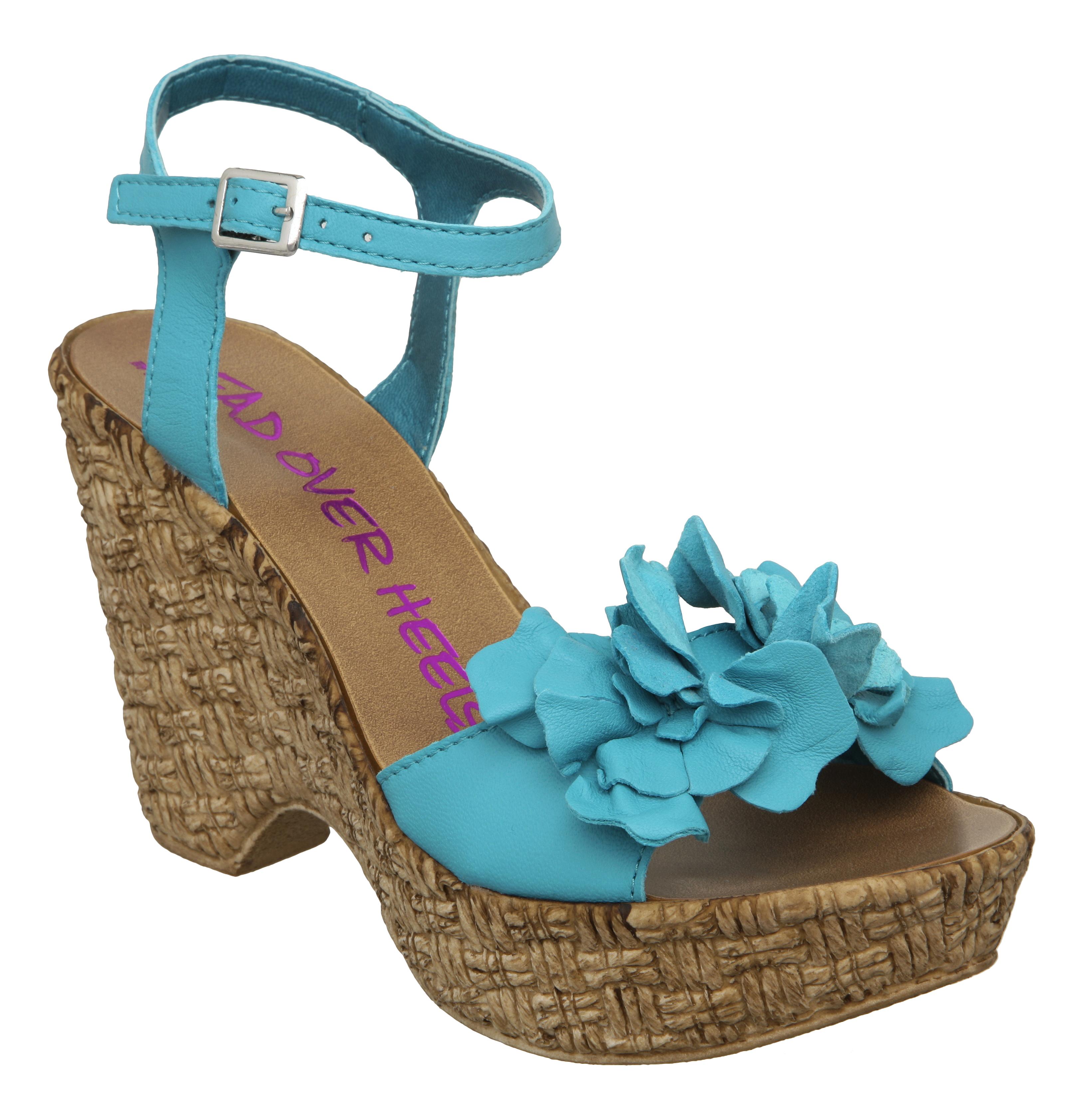 heels womens geranium turquoise demi