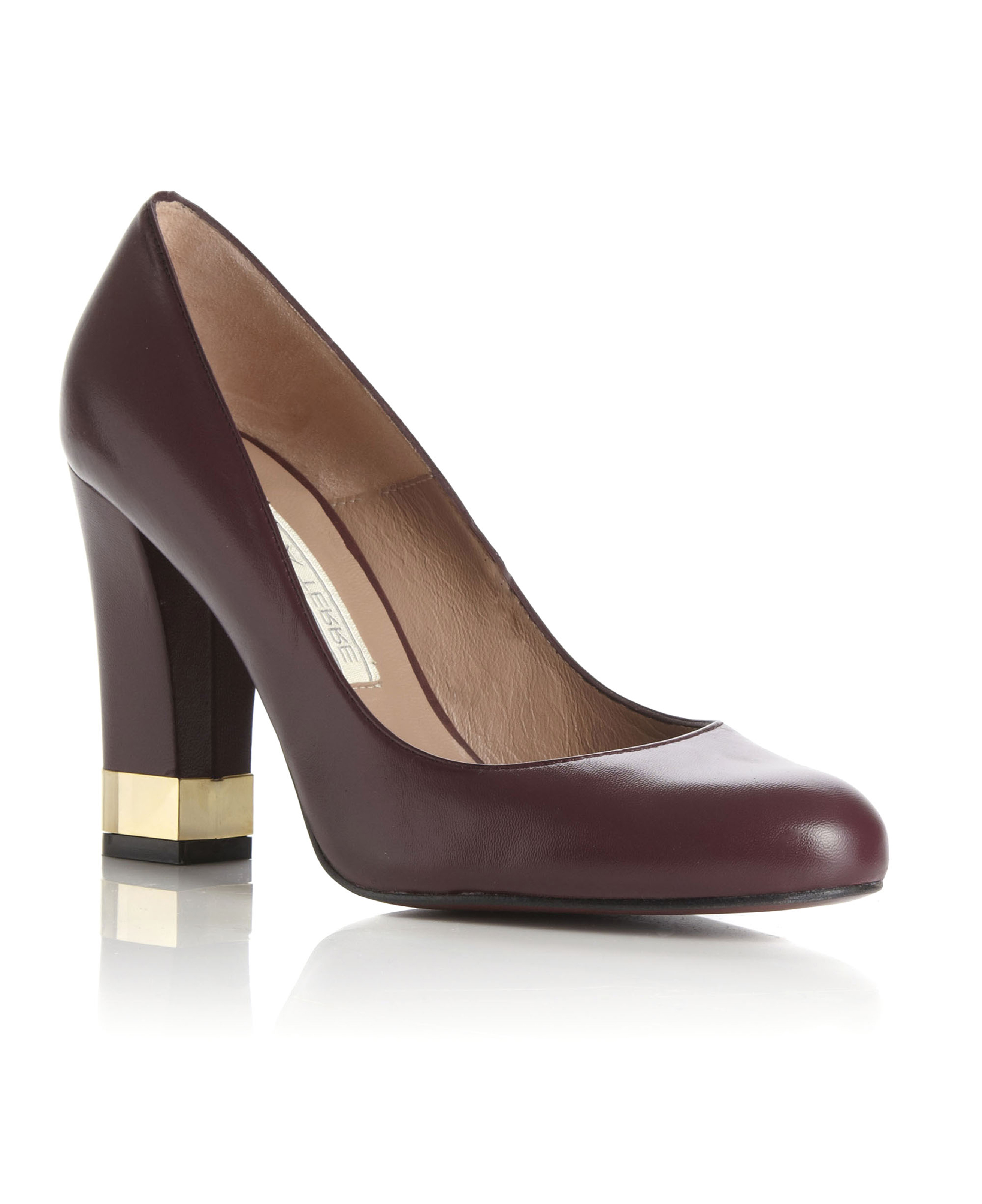 New Pied A Terre Womens Abbot Burgundy Ladies Metallic