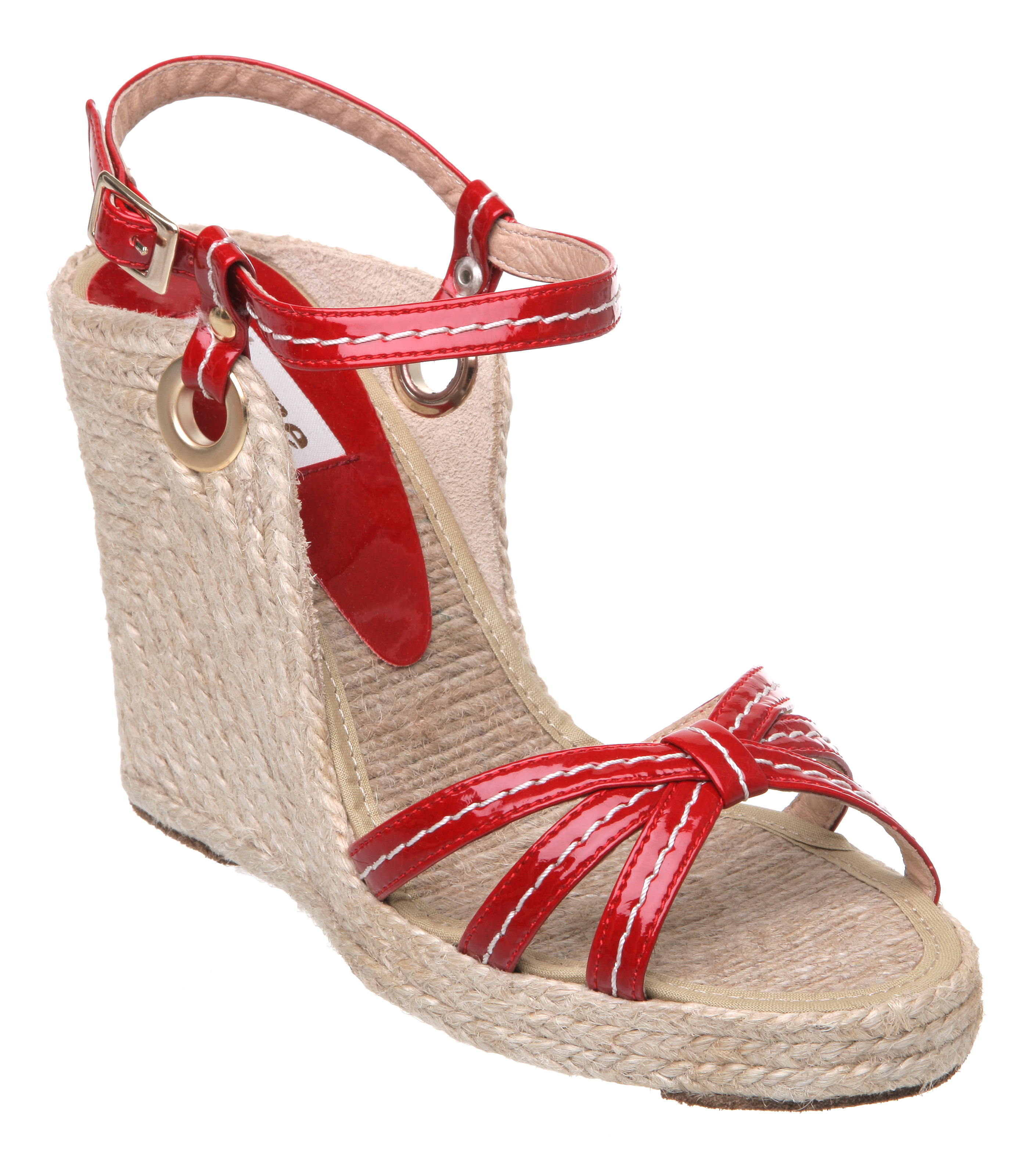 high wedge shoes red - photo #33