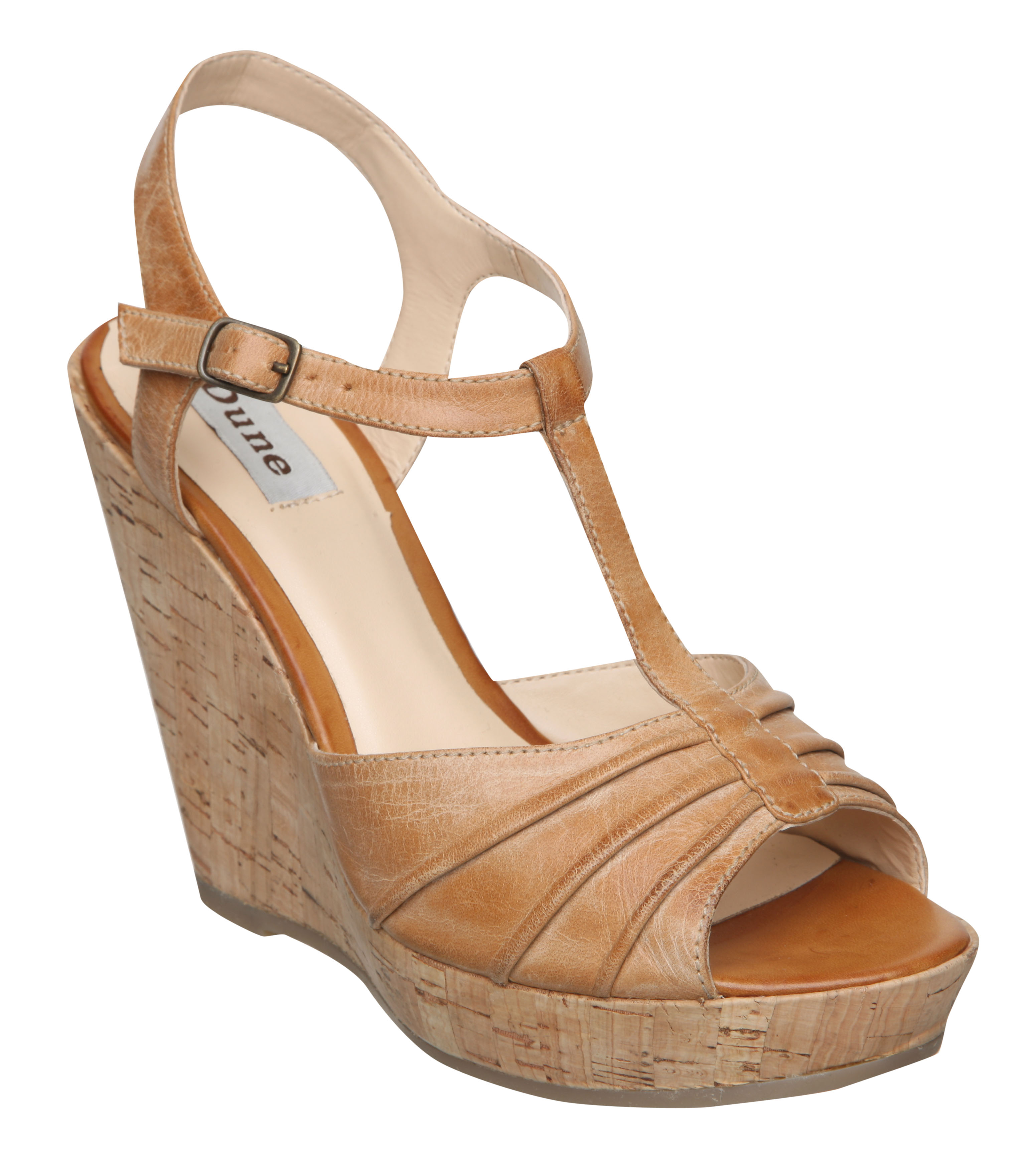 NEW-DUNE-WOMENS-SB-GLADSTONE-TAN-BROWN-LADIES-PLATFORM-WEDGE-HEEL-SHOES-SIZE-3-8