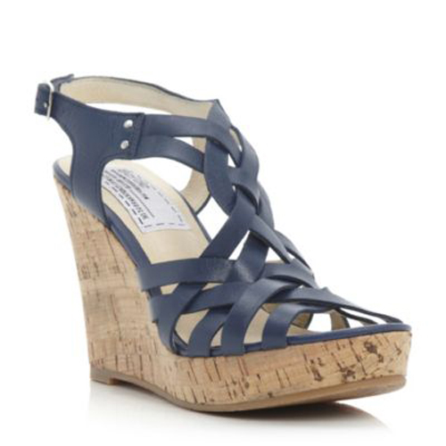 bertie gracie womens navy blue strappy gladiator