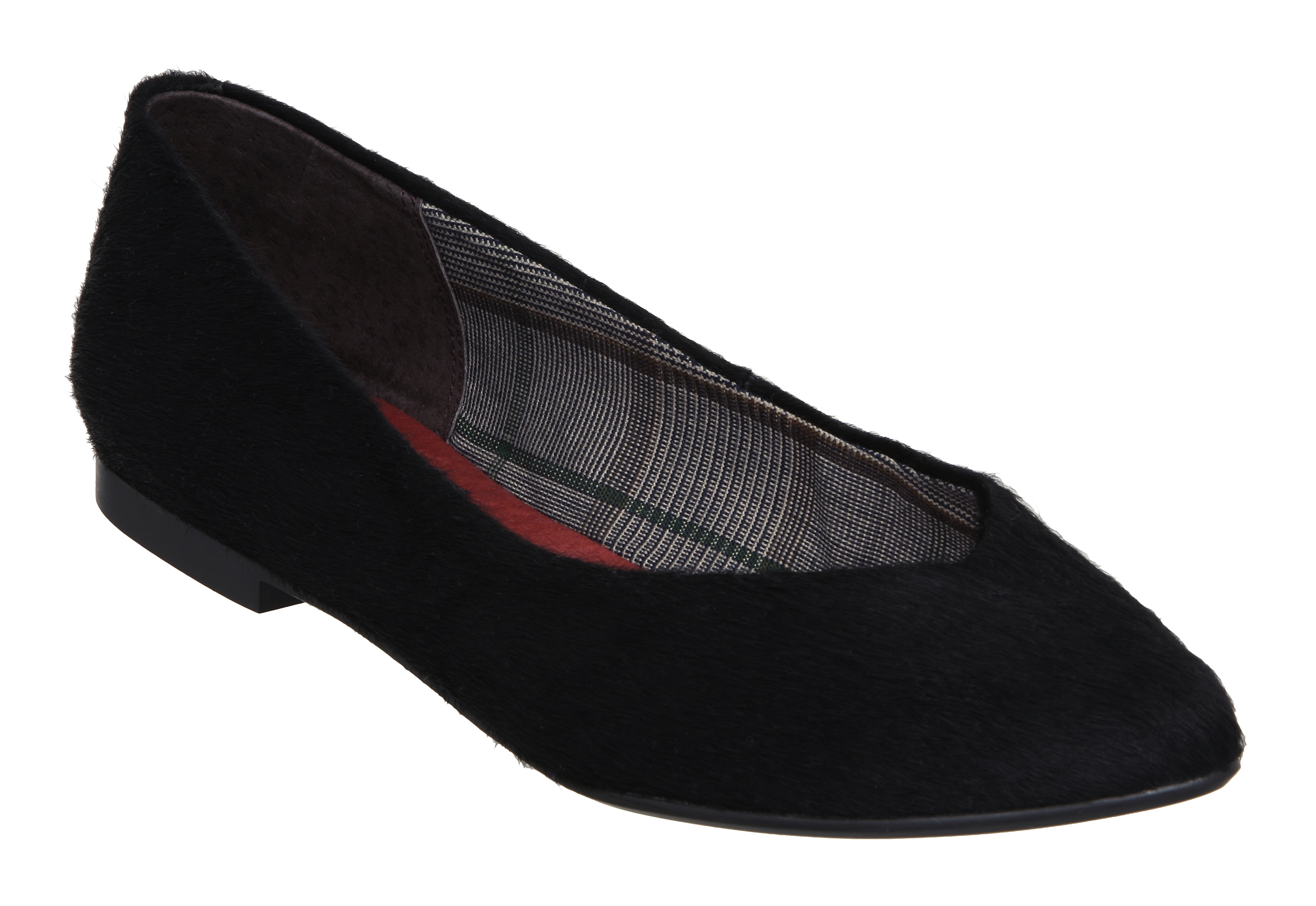 NEW-BERTIE-LADIES-MIRABELLE-BLACK-PONY-WOMENS-FLAT-BALLERINA-SHOES-SIZE-3-8-UK