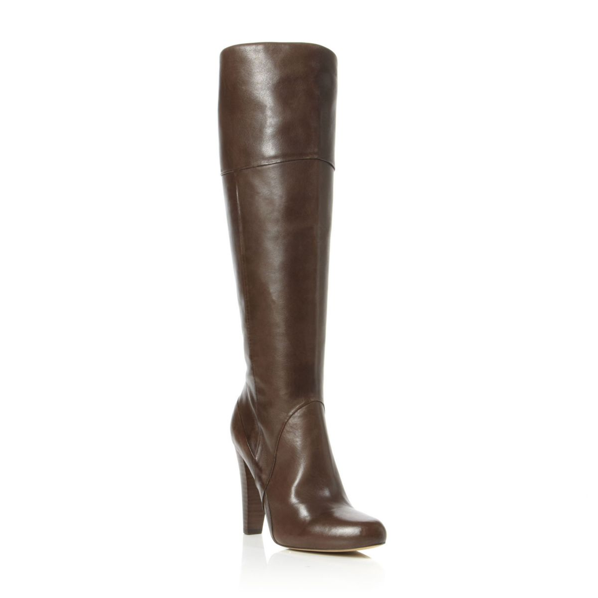 DUNE SEVENOAKS WOMENS BROWN LADIES LEATHER ZIP KNEE HIGH ...