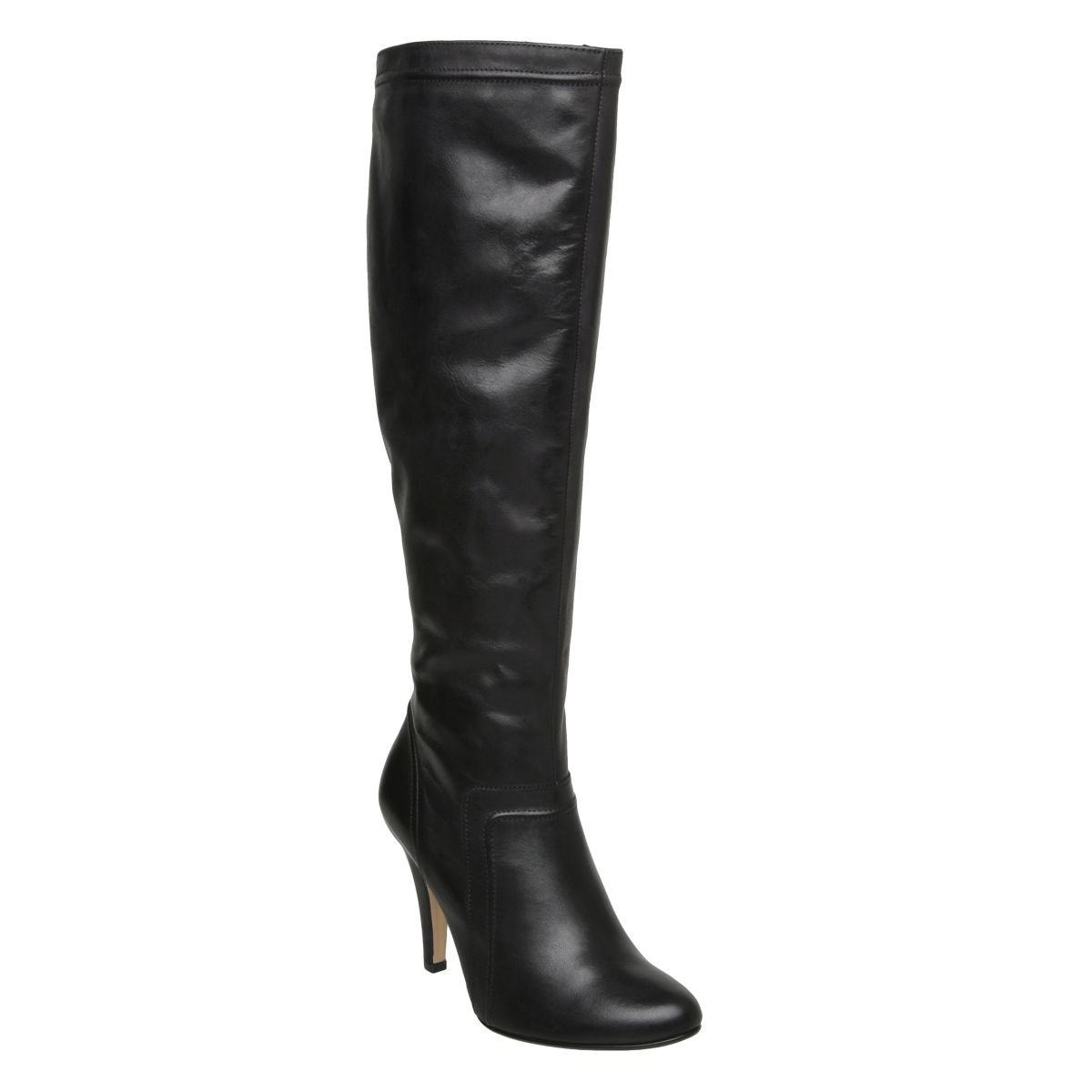 DUNE-SAFFI-WOMENS-BLACK-LADIES-LEATHER-STILETTO-HEELED-KNEE-HIGH-BOOTS-SIZE-3-8