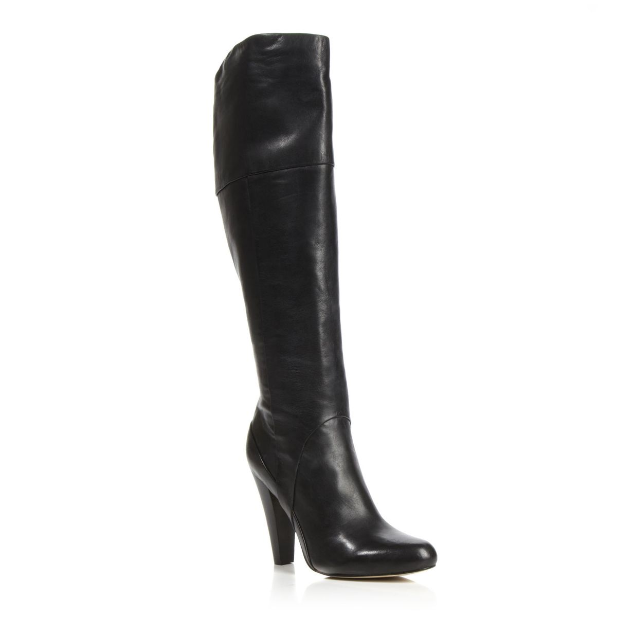 dune sevenoaks womens black leather zip knee high