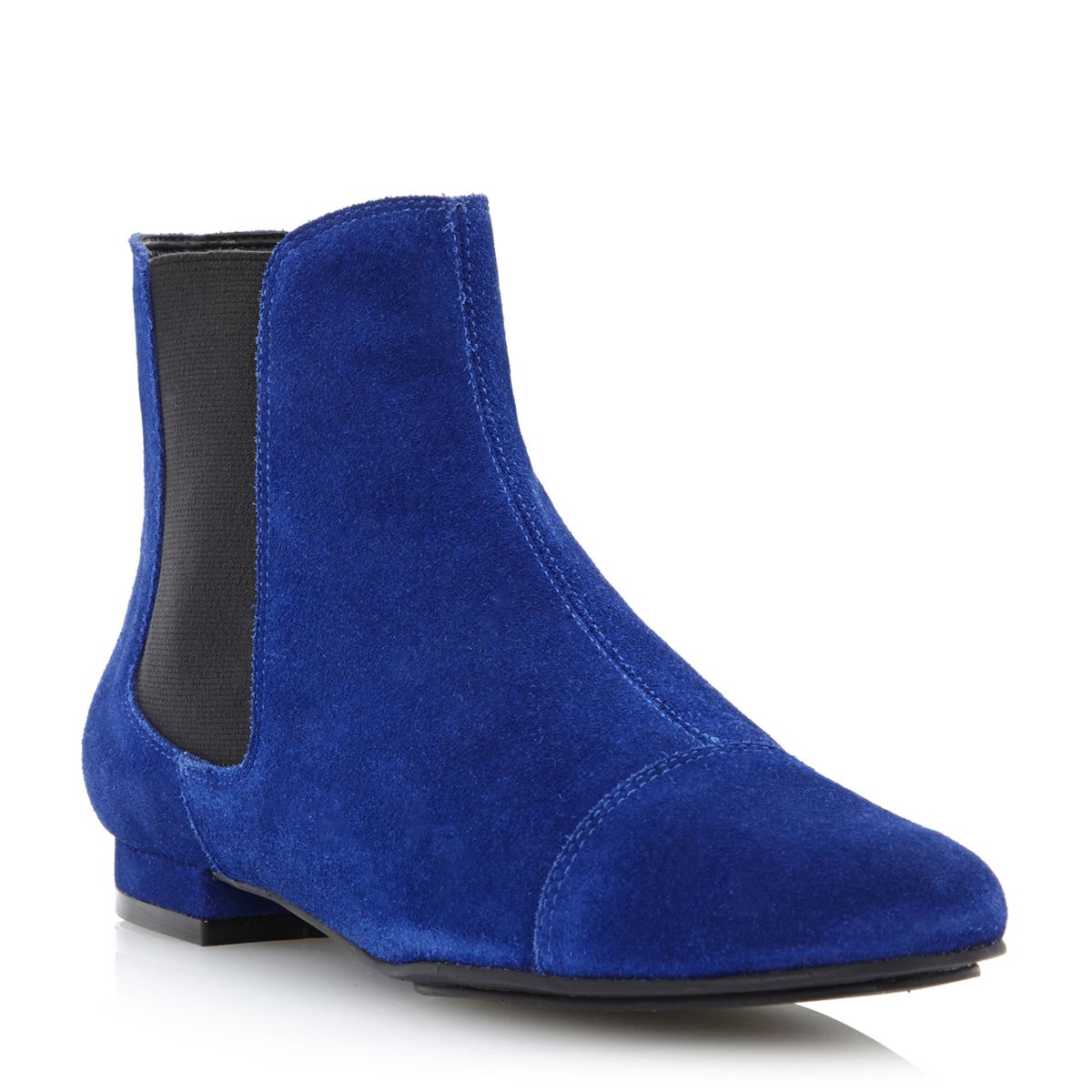 bertie petter womens blue elasticated suede chelsea