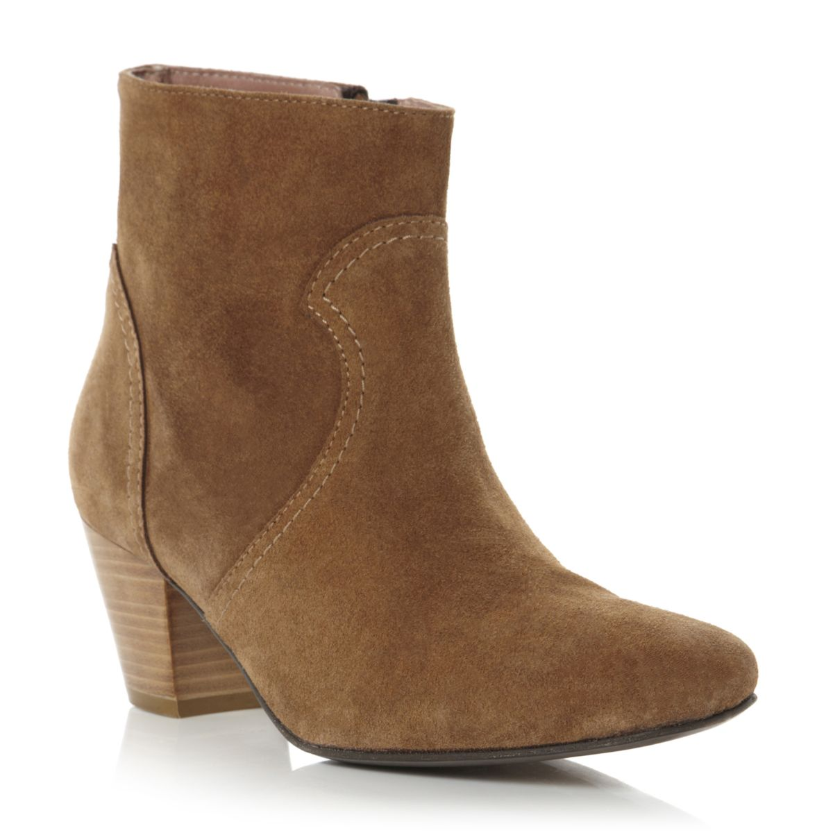 NEW-PIED-A-TERRE-LADIES-OZORA-WOMENS-TAN-BROWN-BLOCK-HEEL-ANKLE-BOOTS-SIZE-3-8