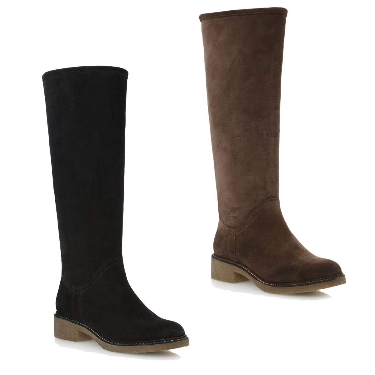 new dune tang womens suede faux fur lined knee high