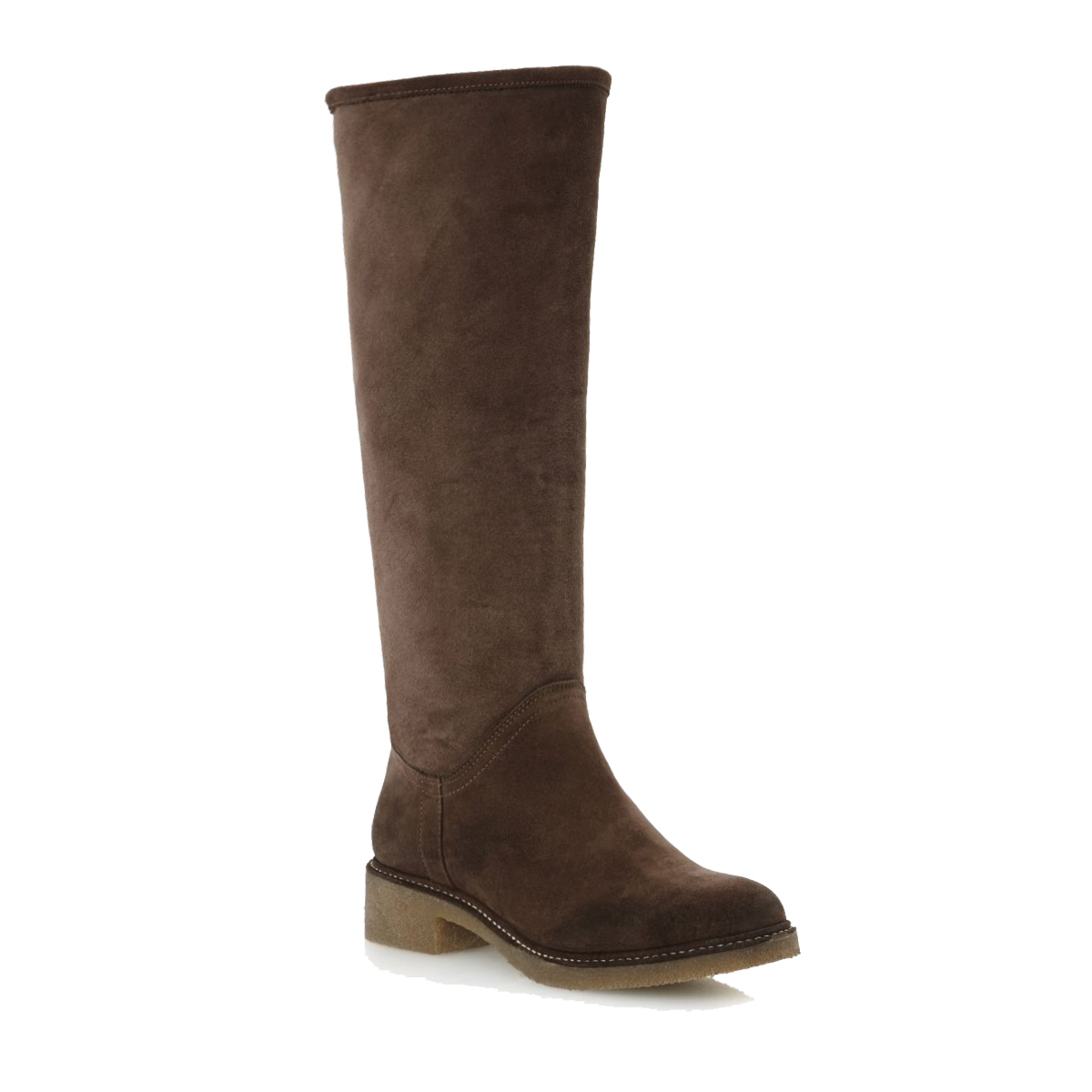 NEW-DUNE-LADIES-TANG-WOMENS-SUEDE-FAUX-FUR-LINED-KNEE-HIGH-FLAT-BOOTS-SIZE-3-8
