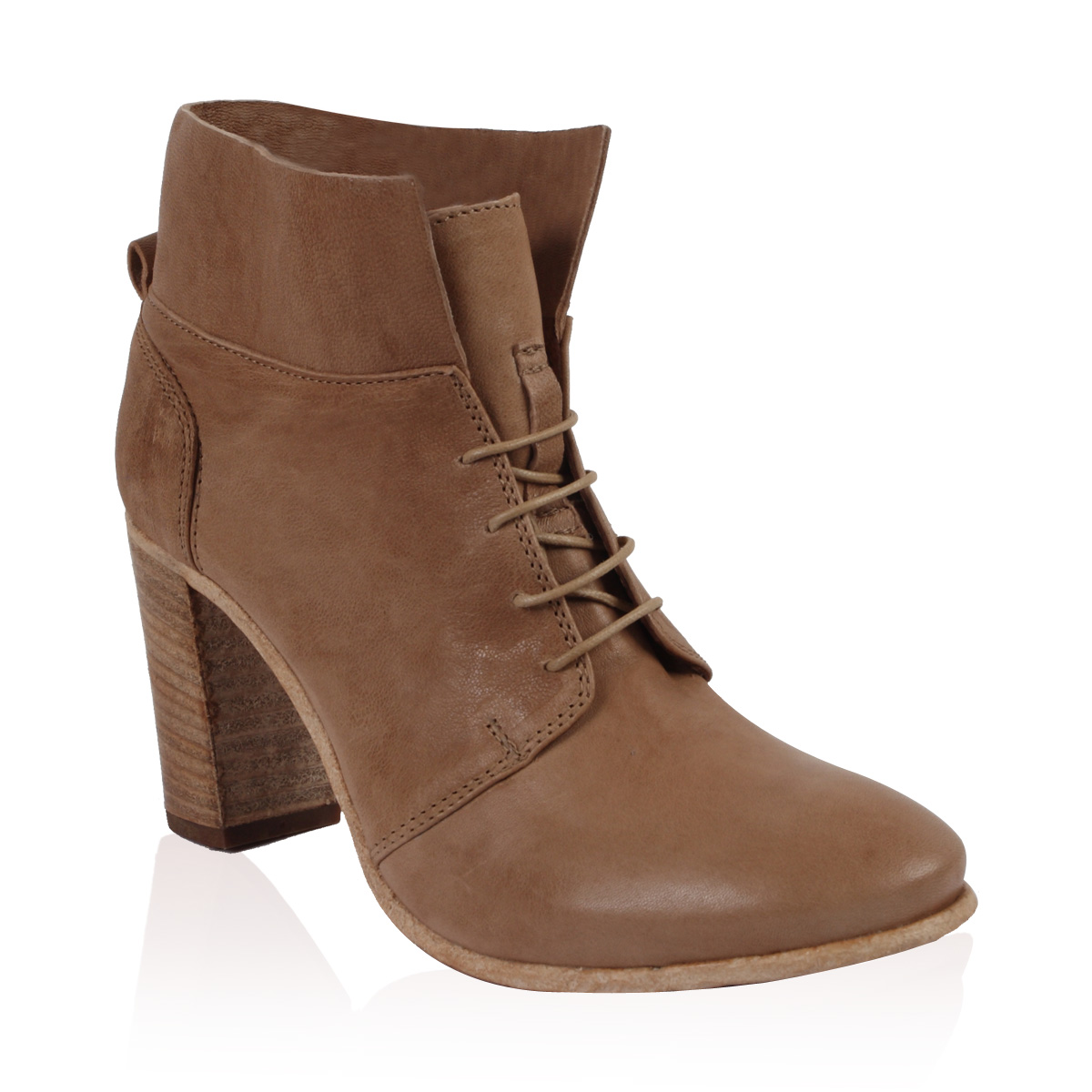 NEW-PIED-A-TERRE-LADIES-PANNA-WOMENS-DARK-NUDE-BLOCK-HEEL-ANKLE-BOOTS-SIZE-3-8