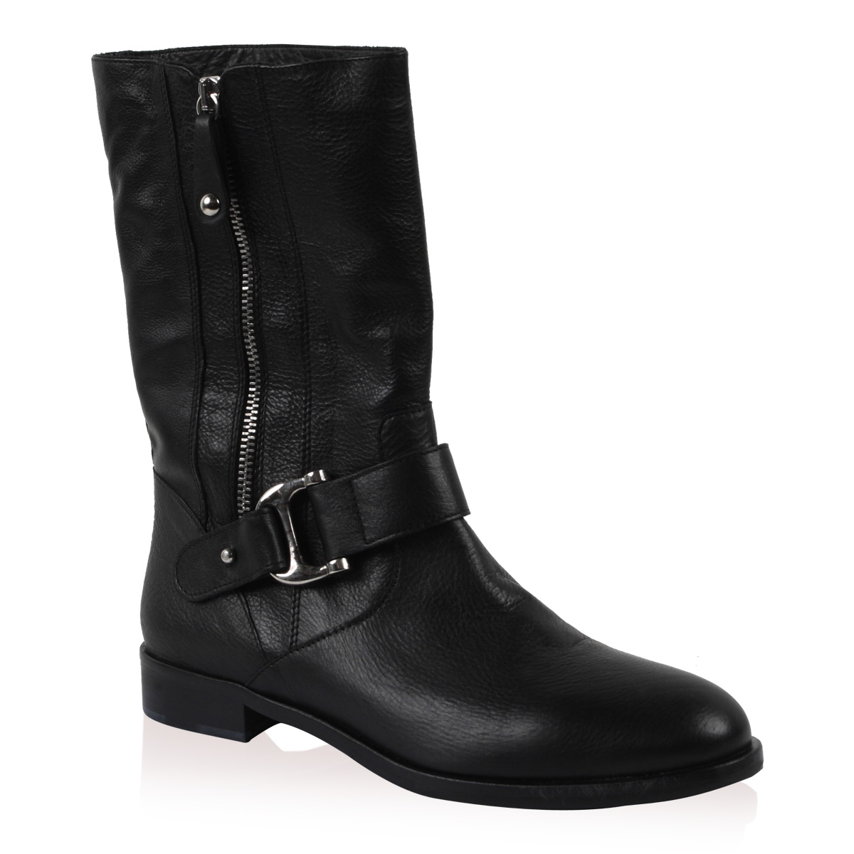 PIED-A-TERRE-LADIES-OKELLY-WOMENS-BLACK-LOW-HEEL-LEATHER-ANKLE-BOOTS-SIZE-3-8-UK
