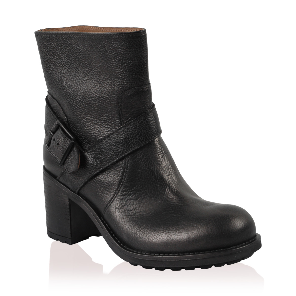 NEW-PIED-A-TERRE-LADIES-PLOT-WOMENS-PEWTER-GREY-BLOCK-HEEL-BUCKLE-BOOTS-SIZE-3-8