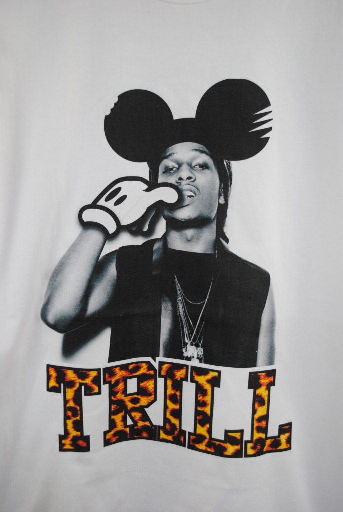 Actual Fact T Shirt Asap Rocky Trill Mickey Mouse Hip Hop