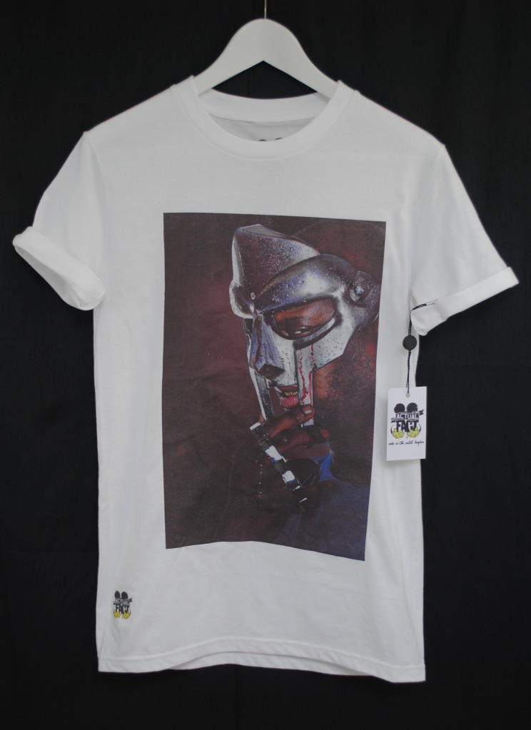 Actual Fact T Shirt Mf Doom Madvillain Blood Mask Rap Hip
