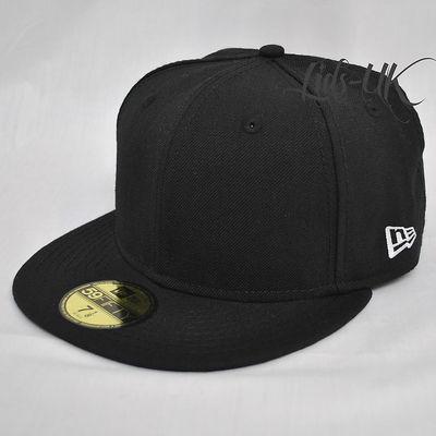 af9590c93 Details about NEW ERA 59fifty PLAIN CAP HAT 5950 ROYAL, BLACK, RED +