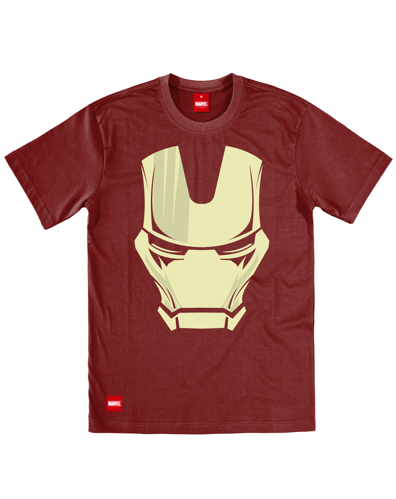 addict marvel iron man face superhero comic oxblood maroon. Black Bedroom Furniture Sets. Home Design Ideas