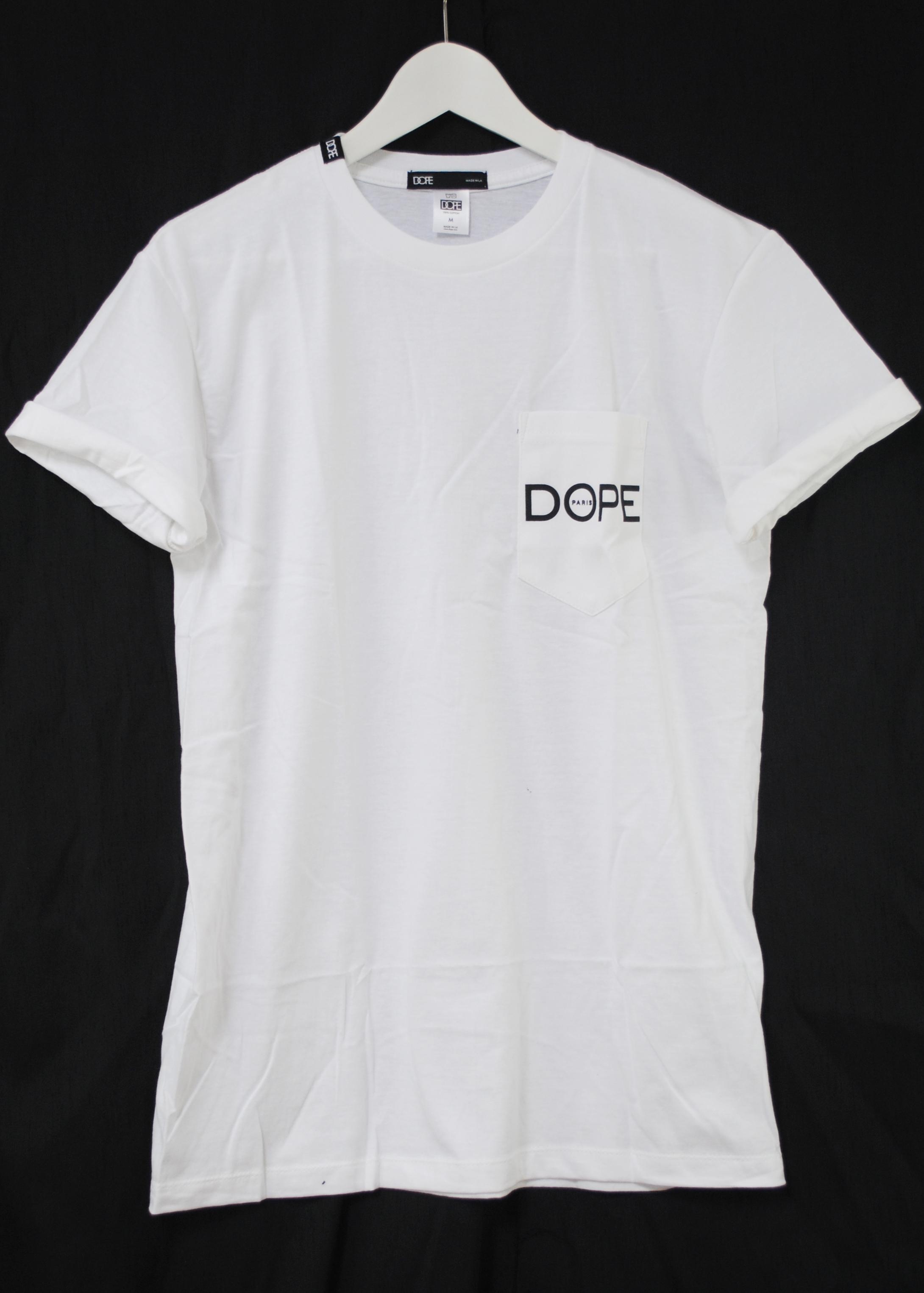 Black t shirt ebay - Dope Couture Mediterranean Paris Pocket White Urban Crew
