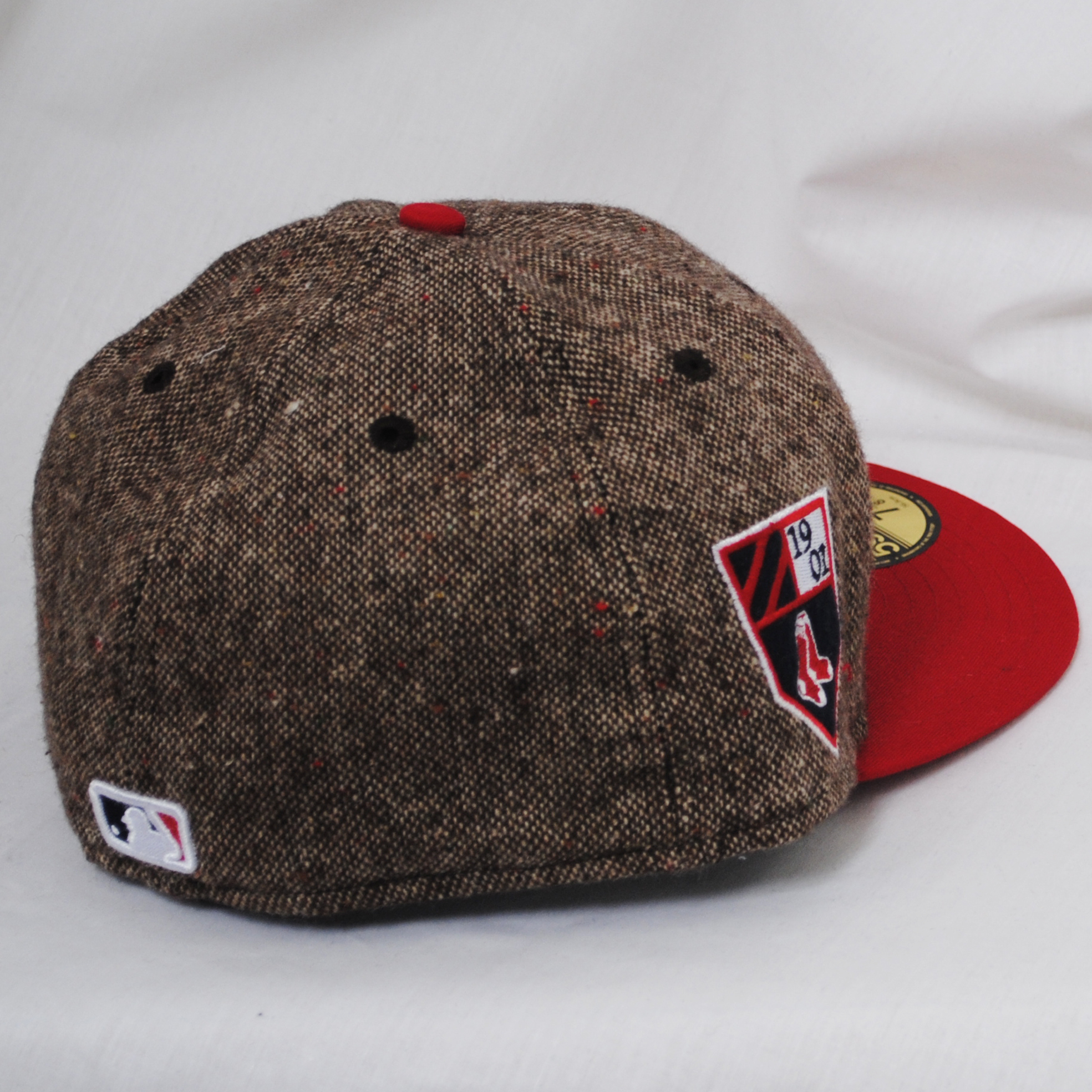 d0272afab1f ... new era 59fifty tweed boston red sox fitted cap hat brown red ...