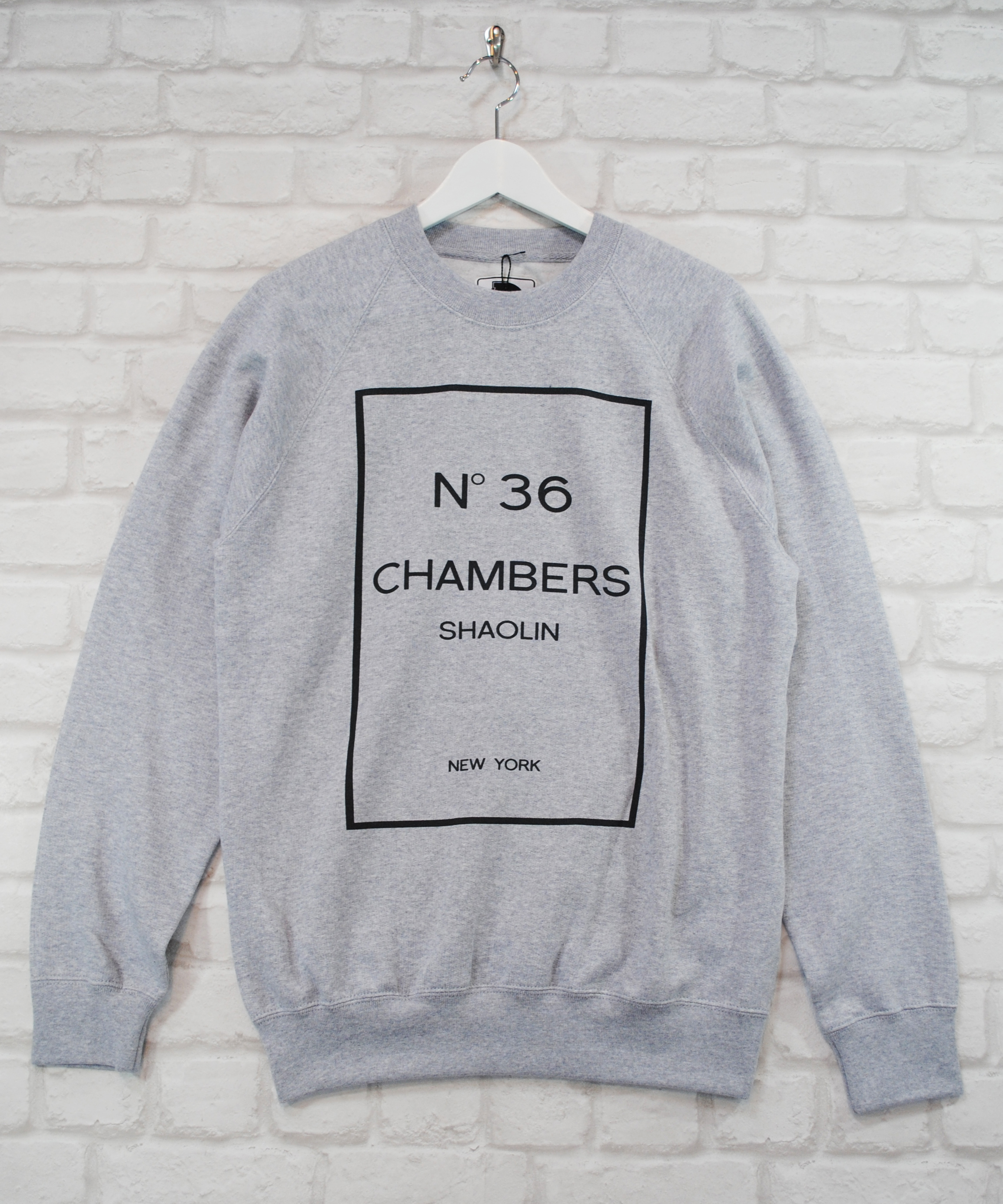 Actual Fact Wu Tang 36 Chambers Supreme Retro Hip Hop Grey Sweatshirt Jumper