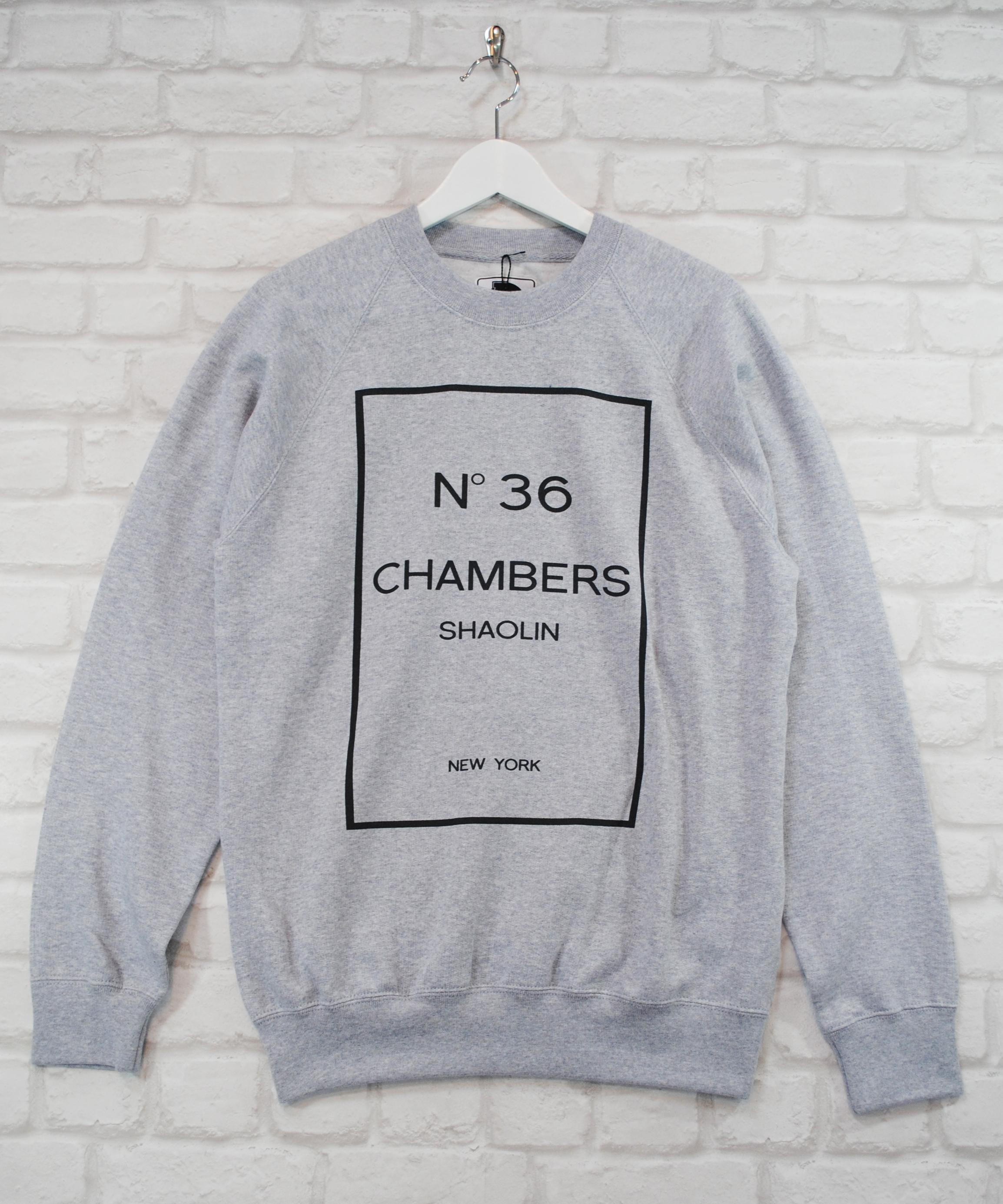 Actual Fact Wu Tang 36 Chambers Supreme Retro Hip Hop Grey Sweatshirt Jumper