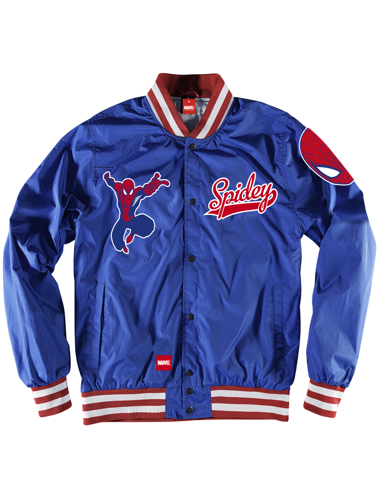 Addict Marvel Spider-Man Superhero Royal Blue Varsity College ...