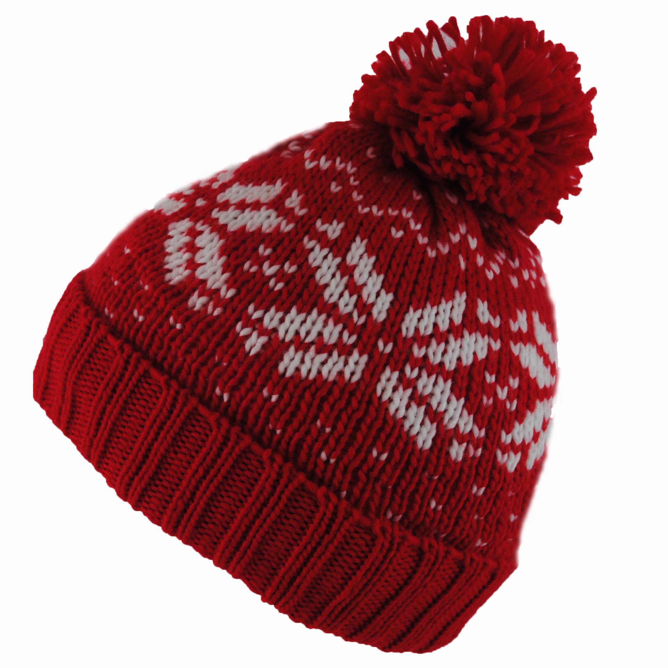 BNWT Fair Isle Snowstar Black RED Winter Wooly Roll UP ...