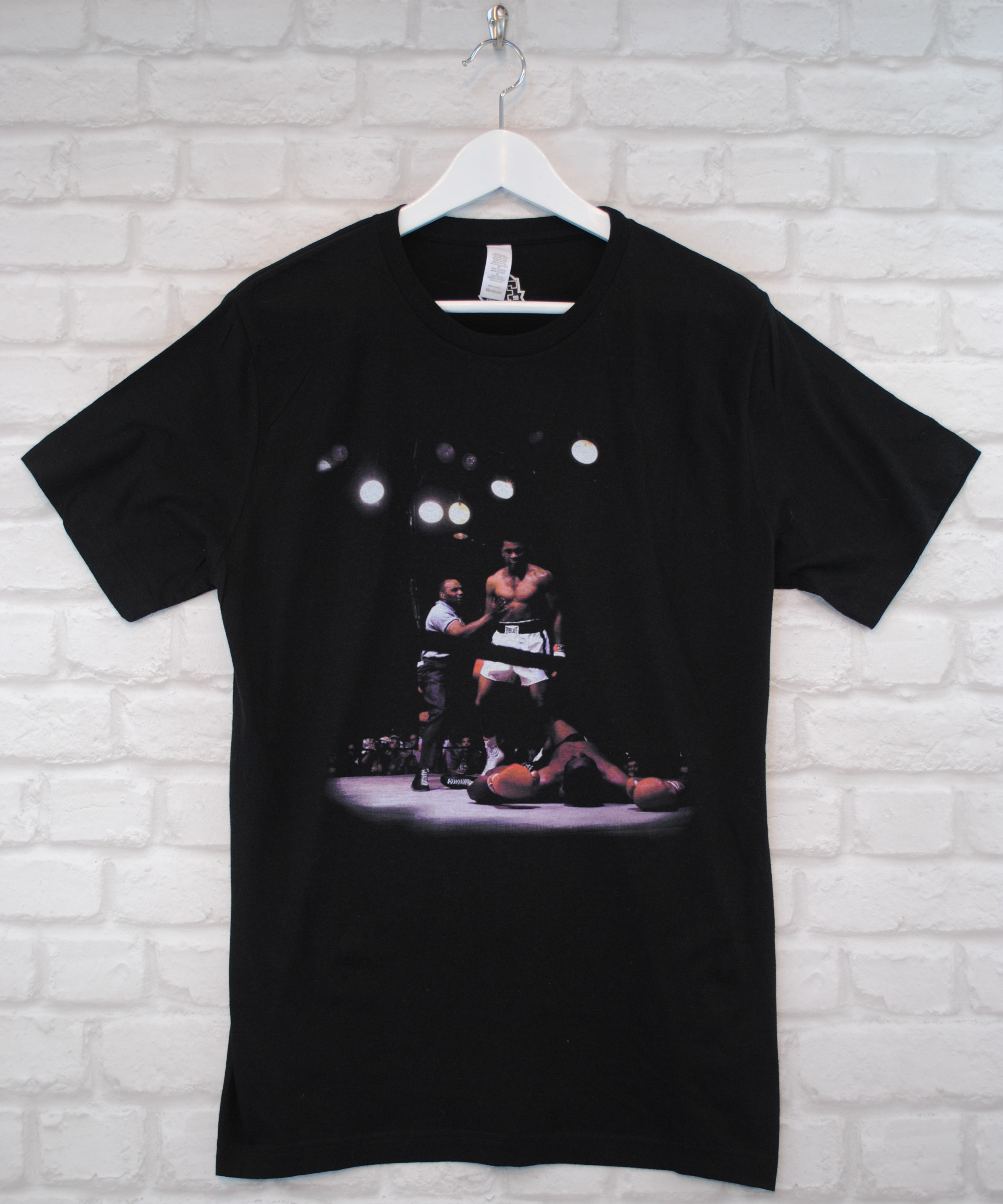 Actual Fact Muhammed Ali Knockout Boxing Black Crew Neck Tee T-shirt