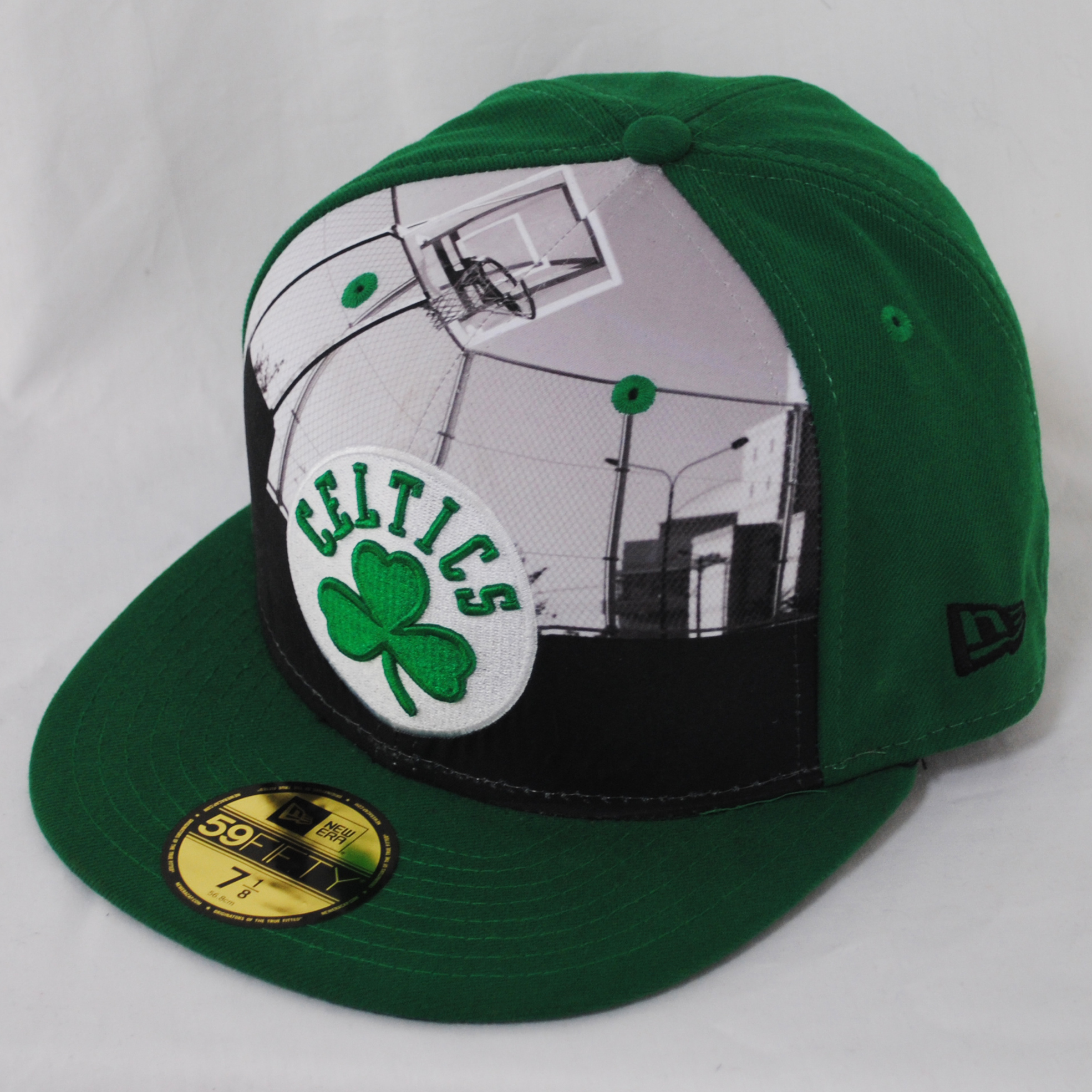 new era 59fifty round dway boston celtics green nba fitted flat peak hat cap ebay. Black Bedroom Furniture Sets. Home Design Ideas