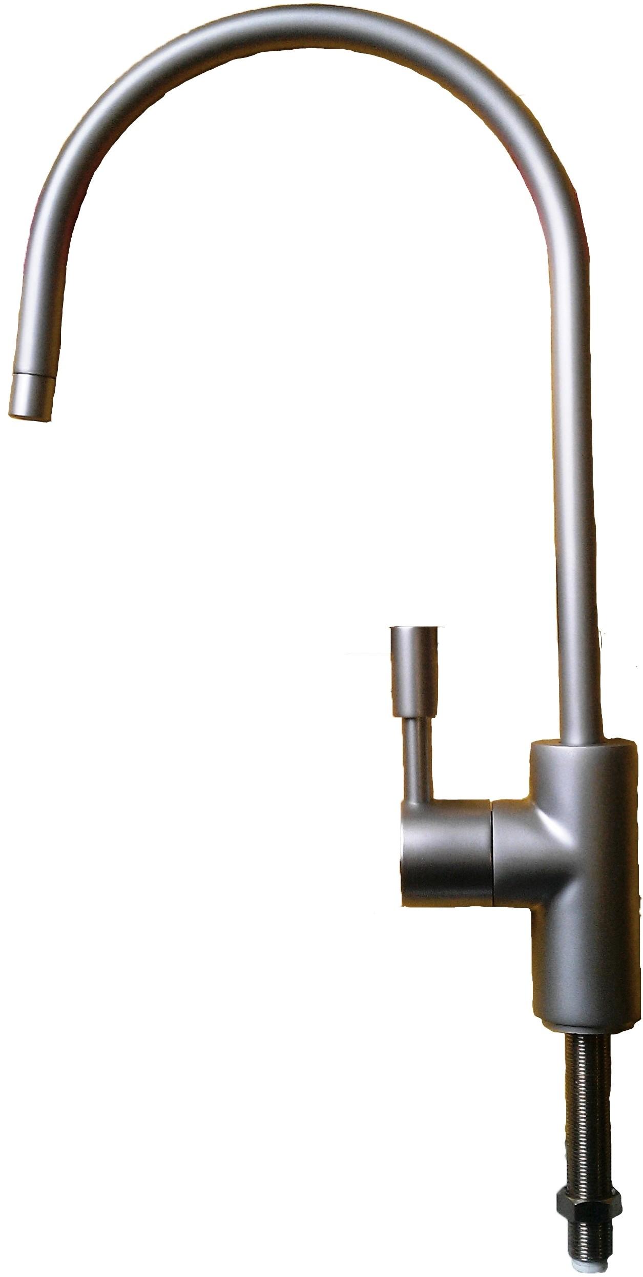 matt satin nickel lackierung schwanenhals einzelhebel trinkwasser wasserfilter ebay. Black Bedroom Furniture Sets. Home Design Ideas