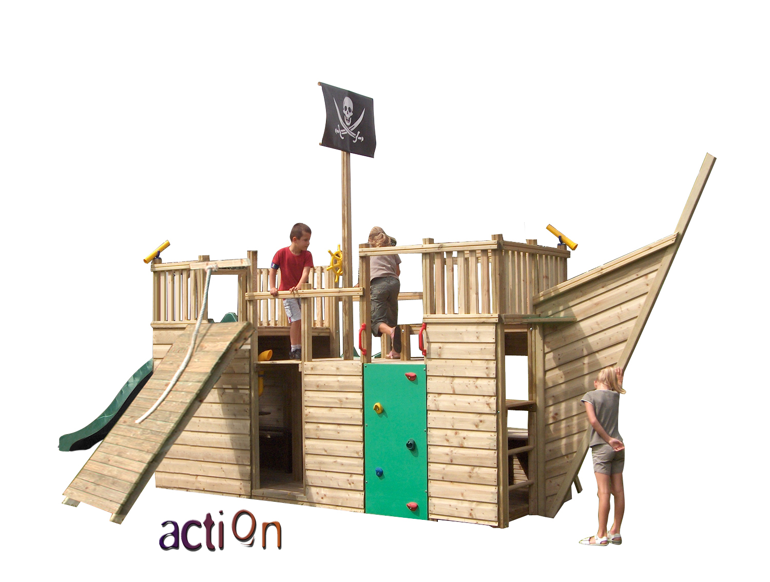 action victory wooden climbing frame ship playhouse children kids garden play ebay. Black Bedroom Furniture Sets. Home Design Ideas