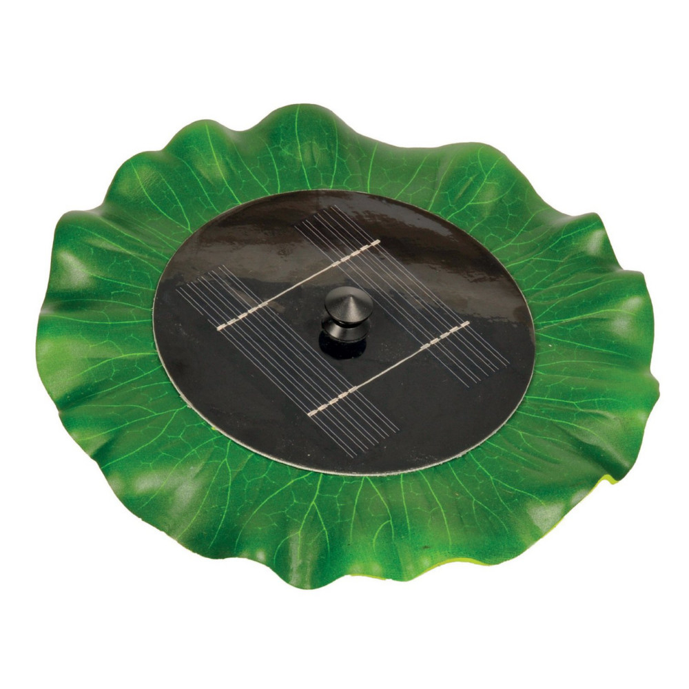 Hozelock cyprio solar powered floating lily pond fountain for Solar fish pond filter