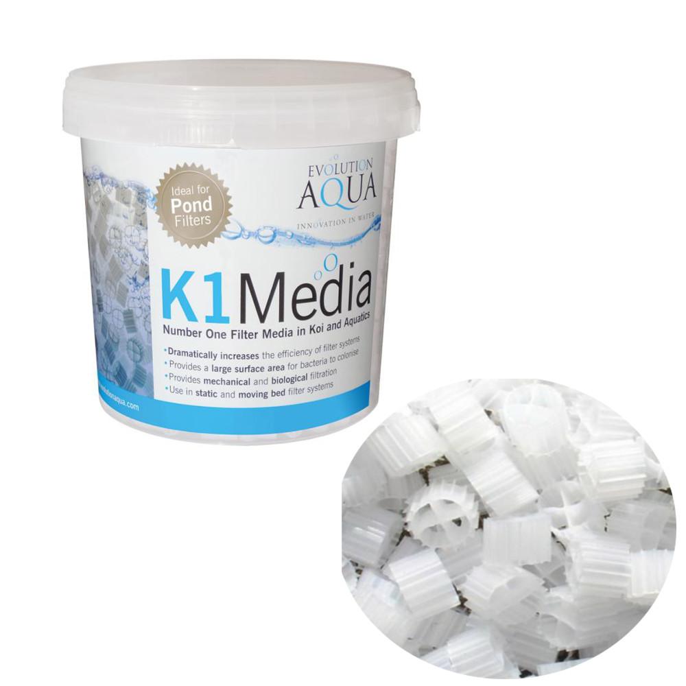 Evolution aqua k1 kaldnes filter bio media evo moving bed for Koi pond filter media