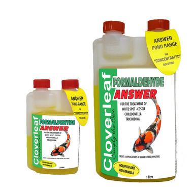 Cloverleaf Formaldehyde Answer Fish Treatment