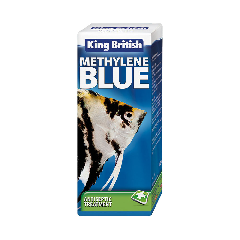 King british methylene blue aquarium 100ml for Methylene blue for fish