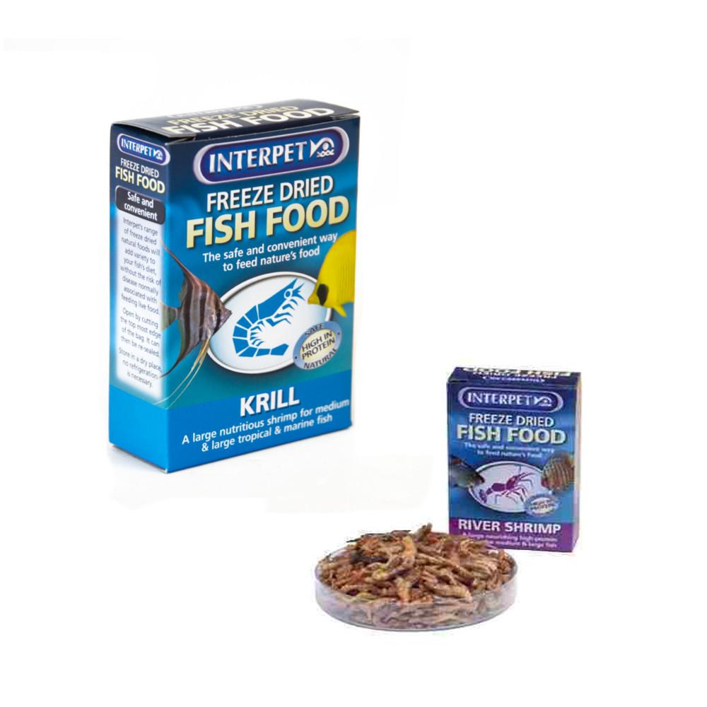 Freshwater fish diet - Interpet Freeze Dried Aquarium Fish Food Diet Treat Tropical Freshwater Tanks