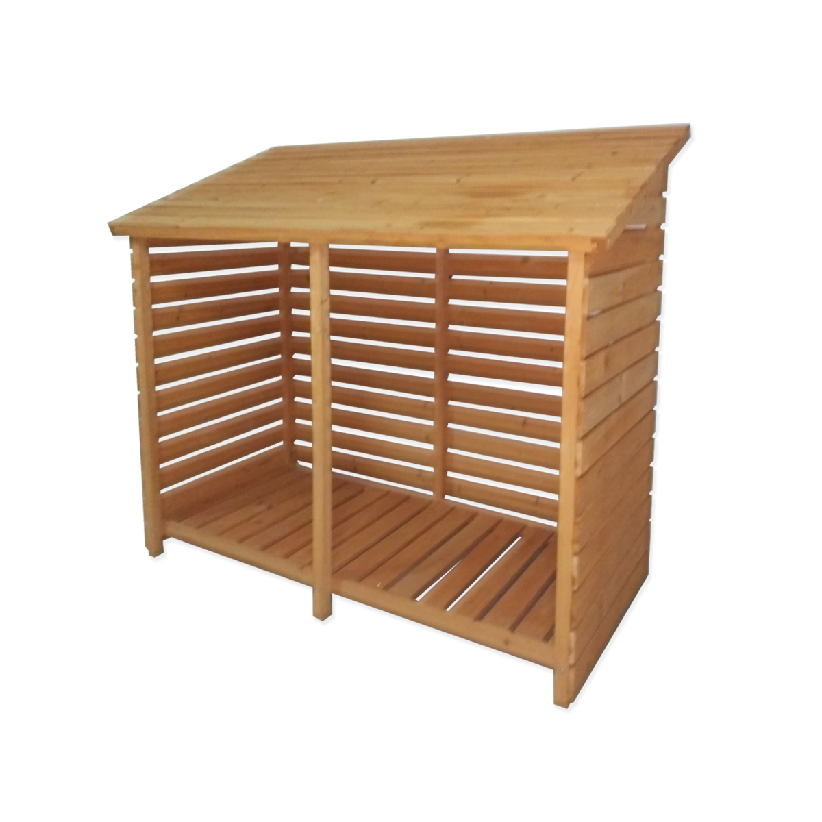 Firewood Storage Shed For Wood Burner Log Store Slatted