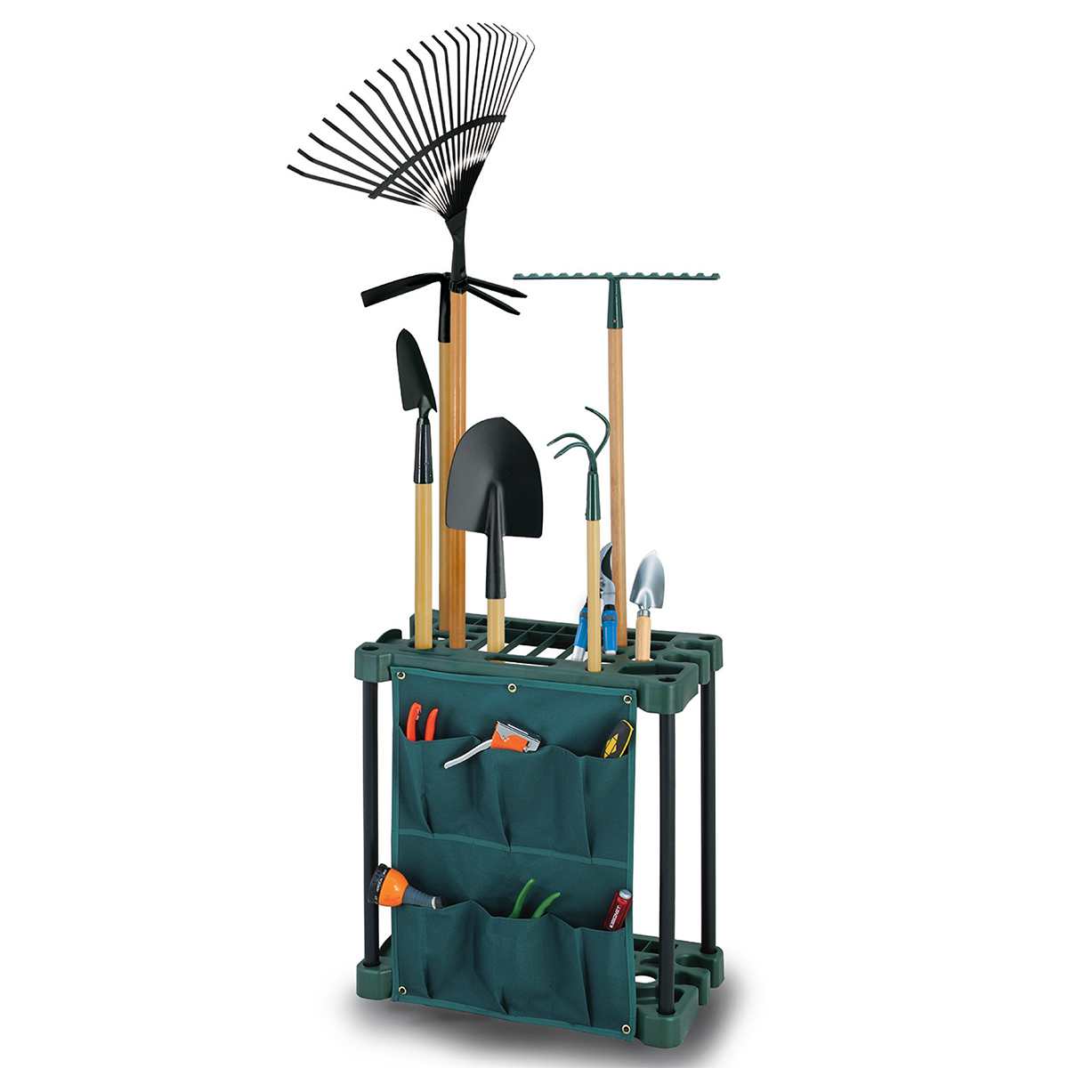Garden tool storage rack gardening caddy shed equipment for Garden tools equipment
