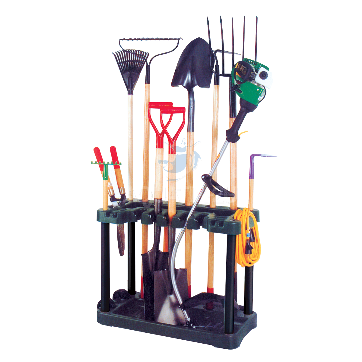 Garden tool rack trolley with wheels pisces for Garden tools equipment