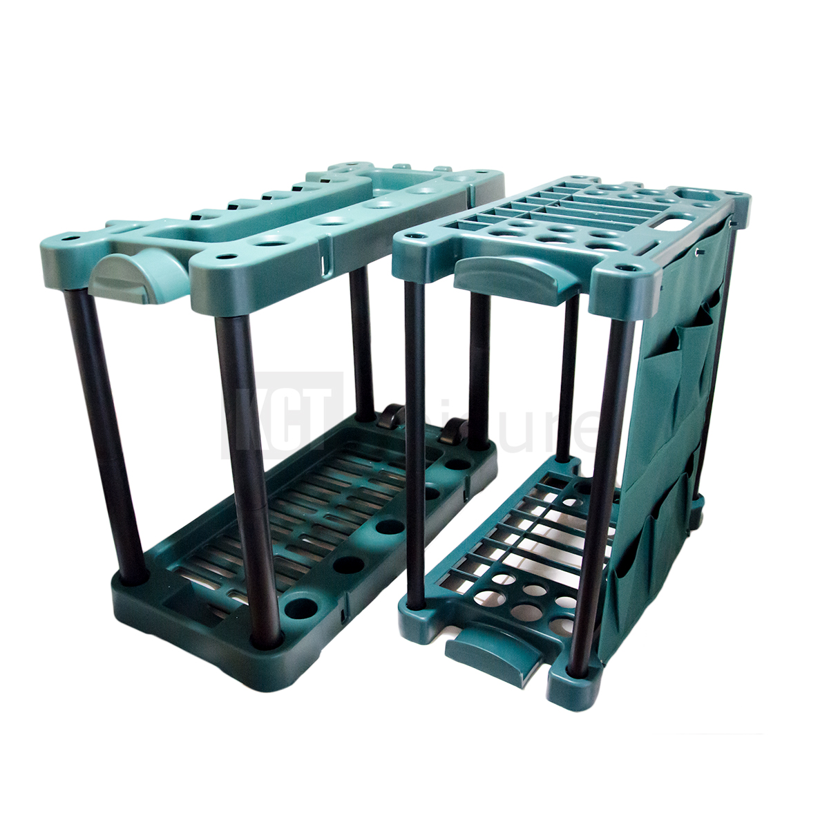 GARDEN TOOL TROLLEY RACK ORGANISER GARDENING STORAGE HOLDER UNIT